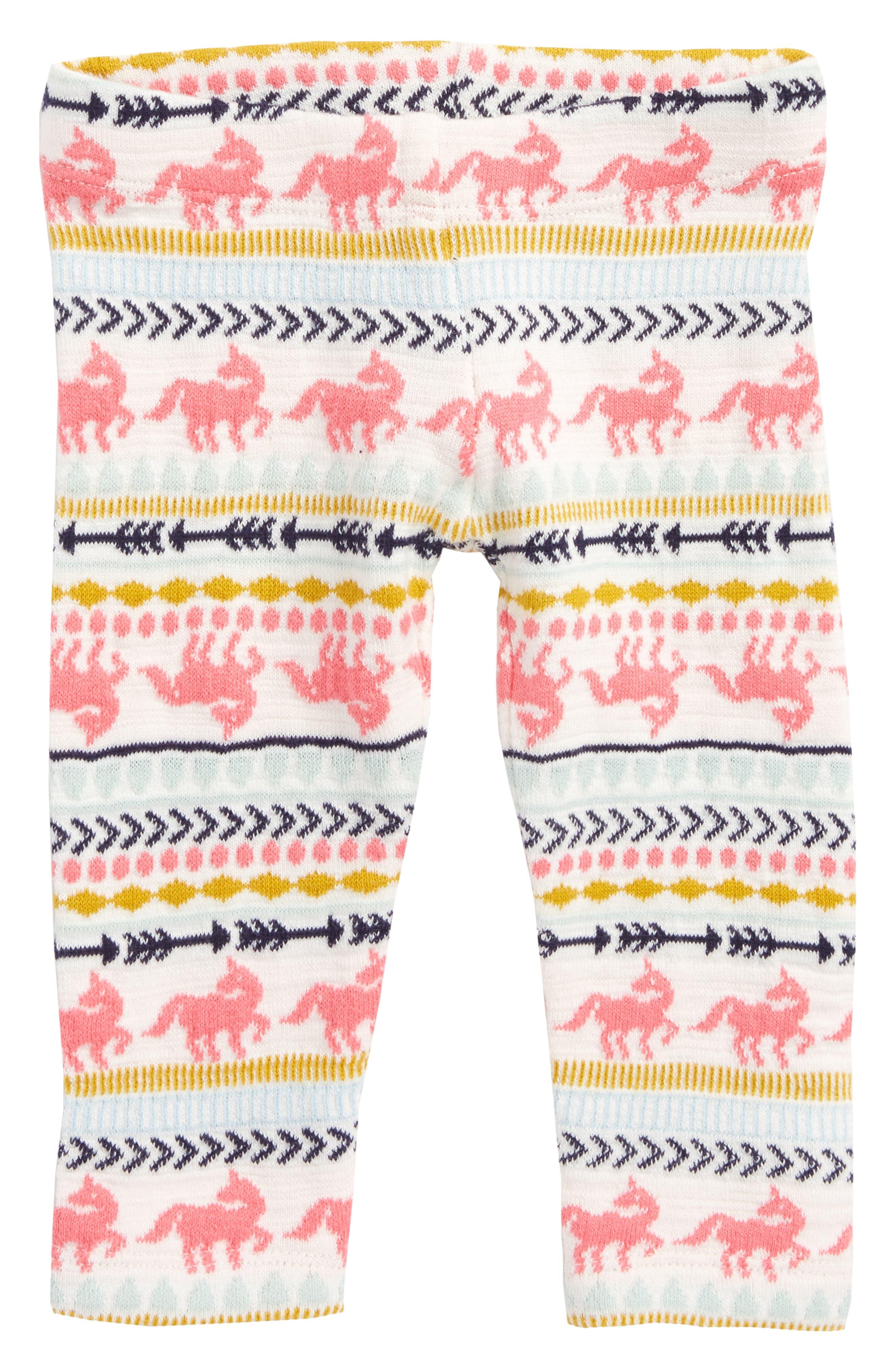 Fair Isle Leggings,                         Main,                         color, Ivory Egret Unicorn Fairisle