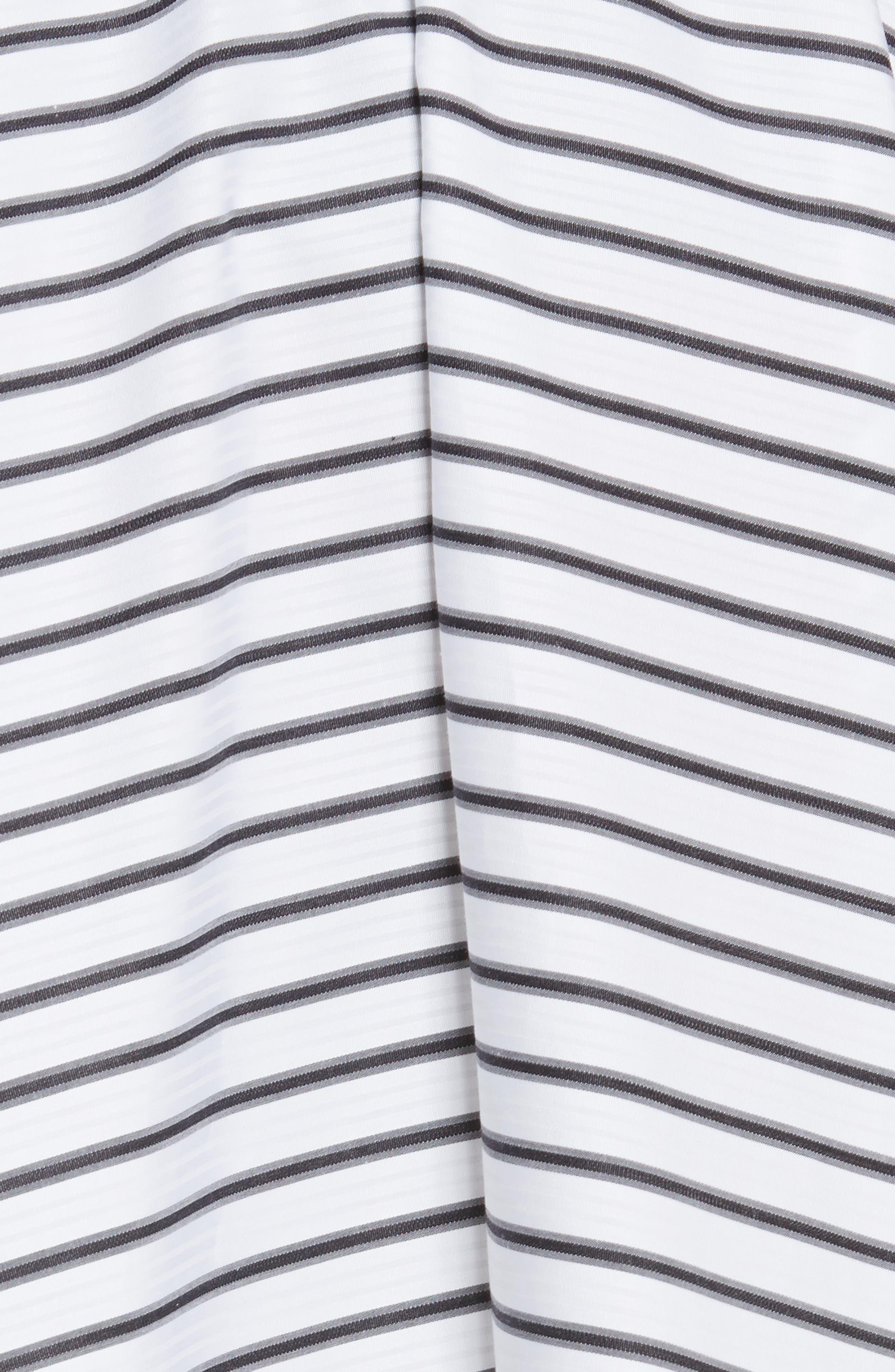 Adelle High/Low Ruffle Skirt,                             Alternate thumbnail 5, color,                             White/ Black
