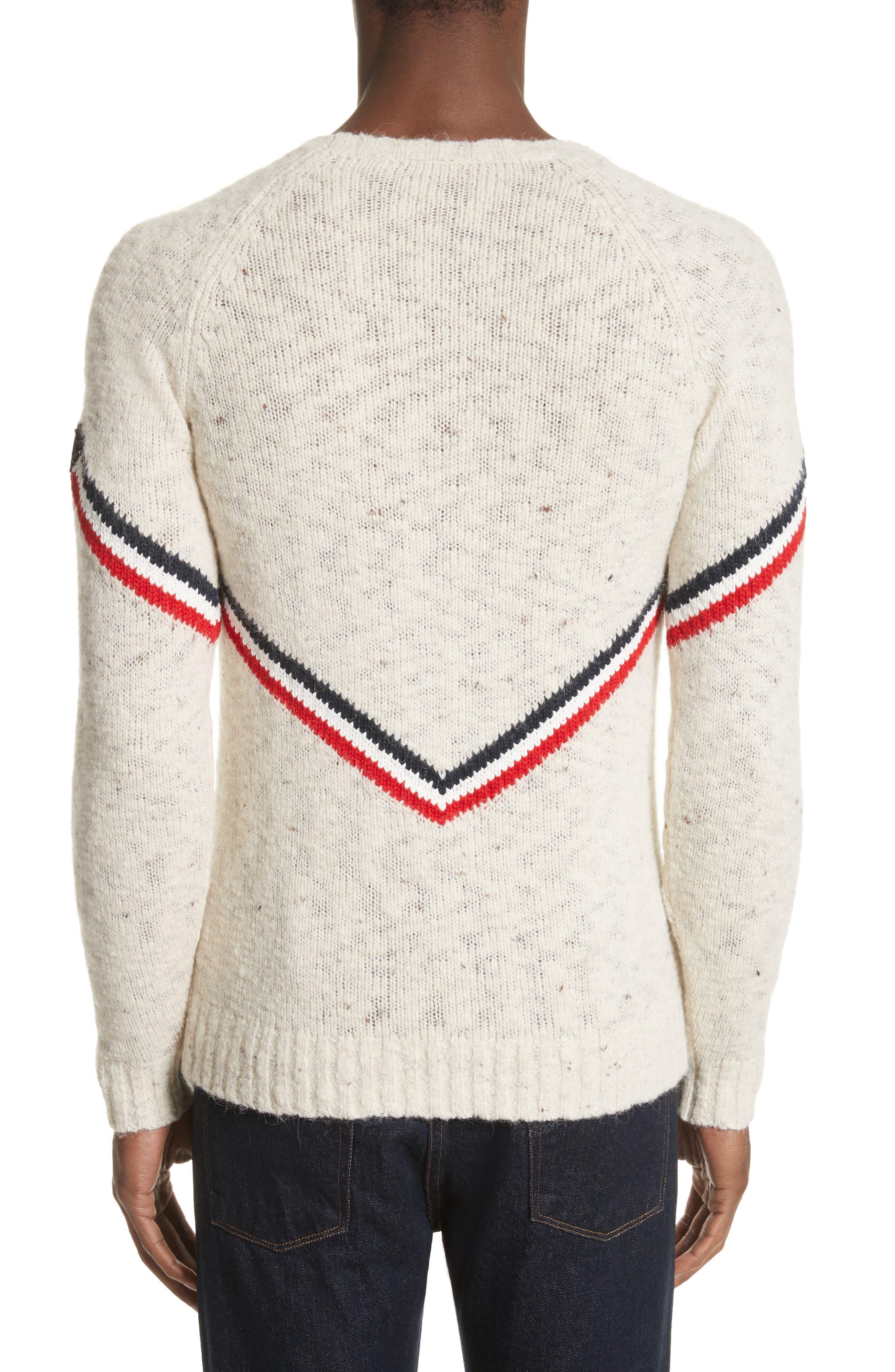 Alternate Image 2  - Moncler Stripe Donegal Crewneck Sweater