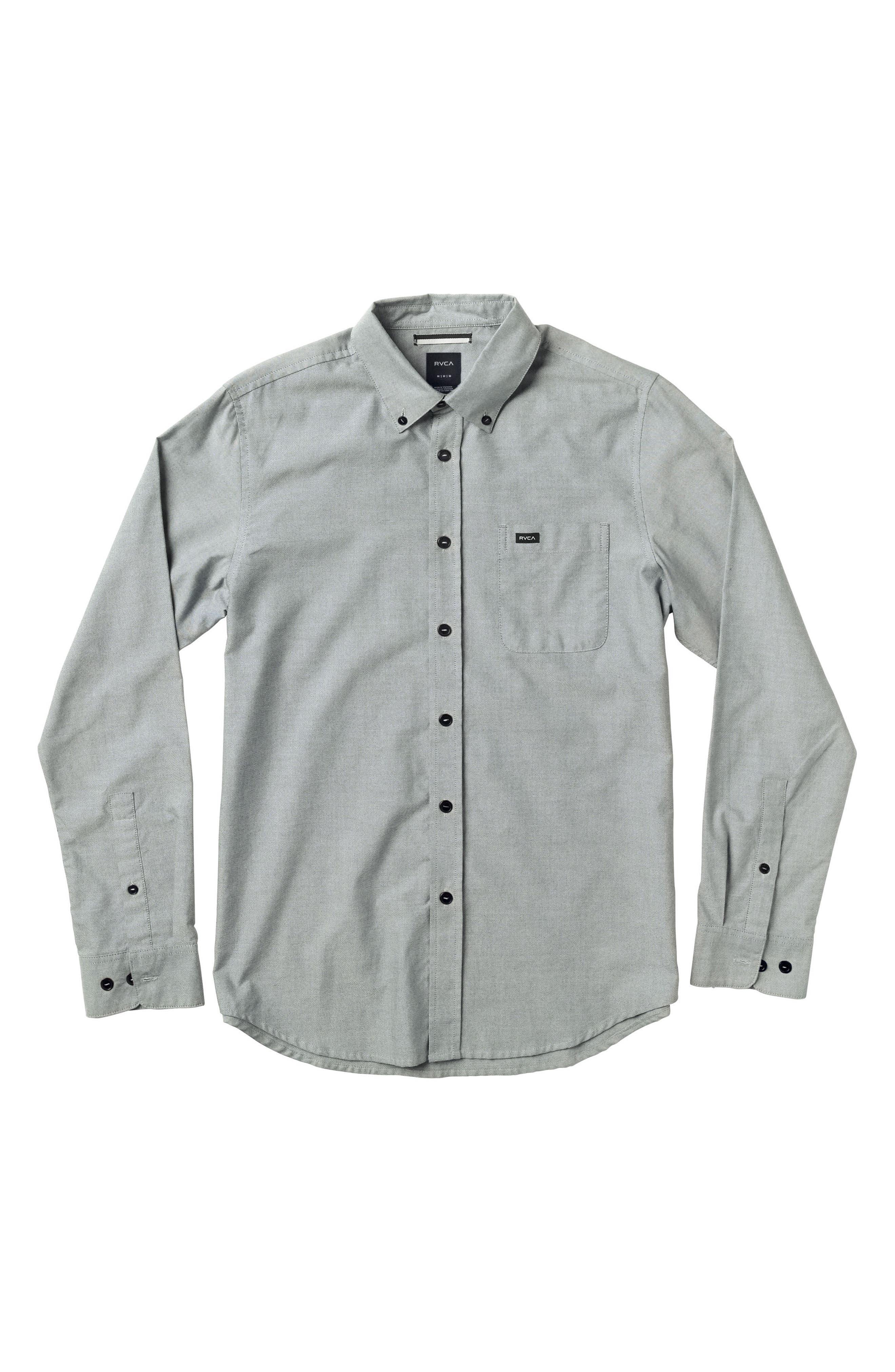 RVCA 'That'll Do' Long Sleeve Oxford Woven Shirt (Big Boys)