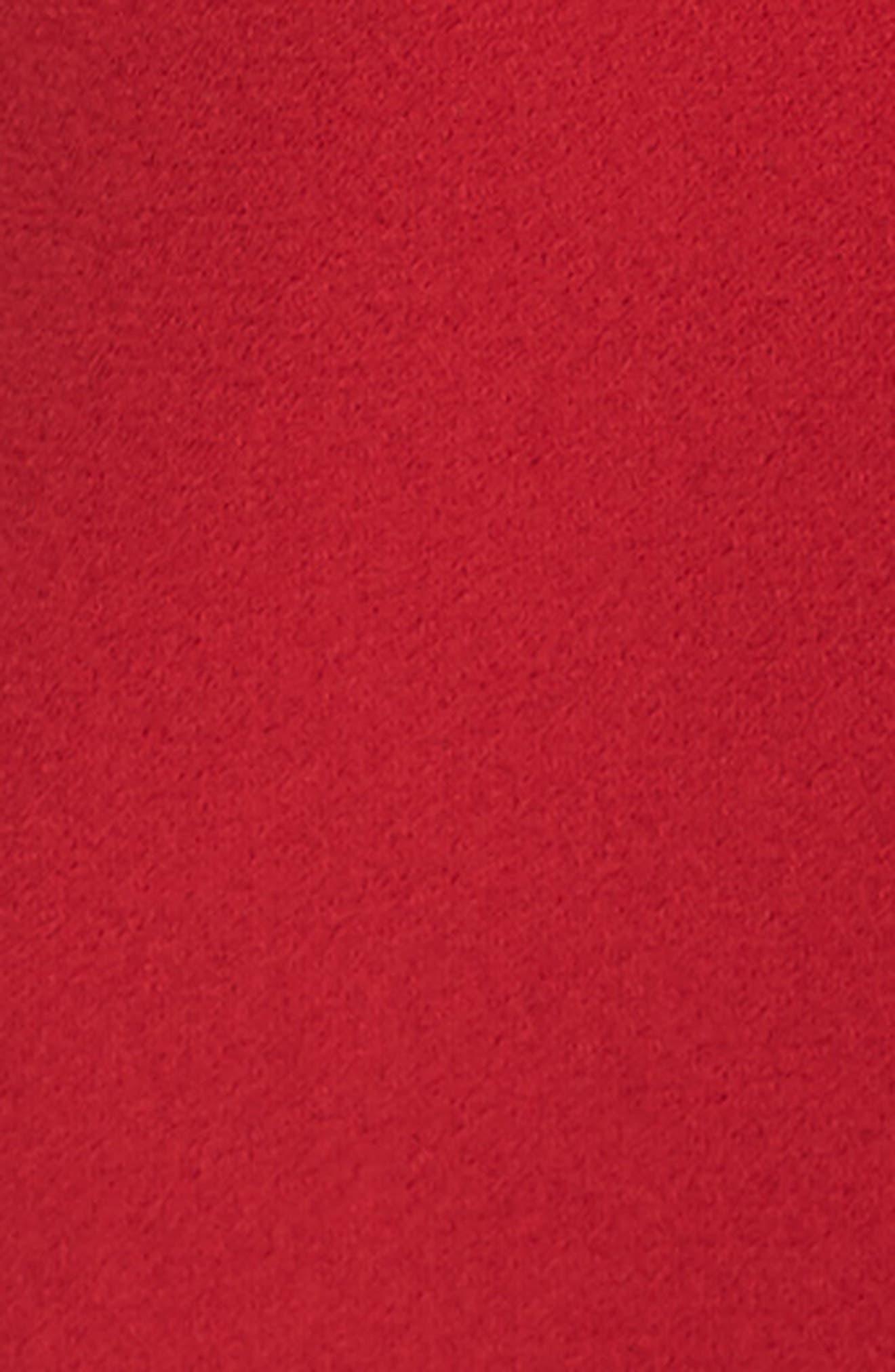 Ruffle Choker Tank,                             Alternate thumbnail 5, color,                             Red Jester