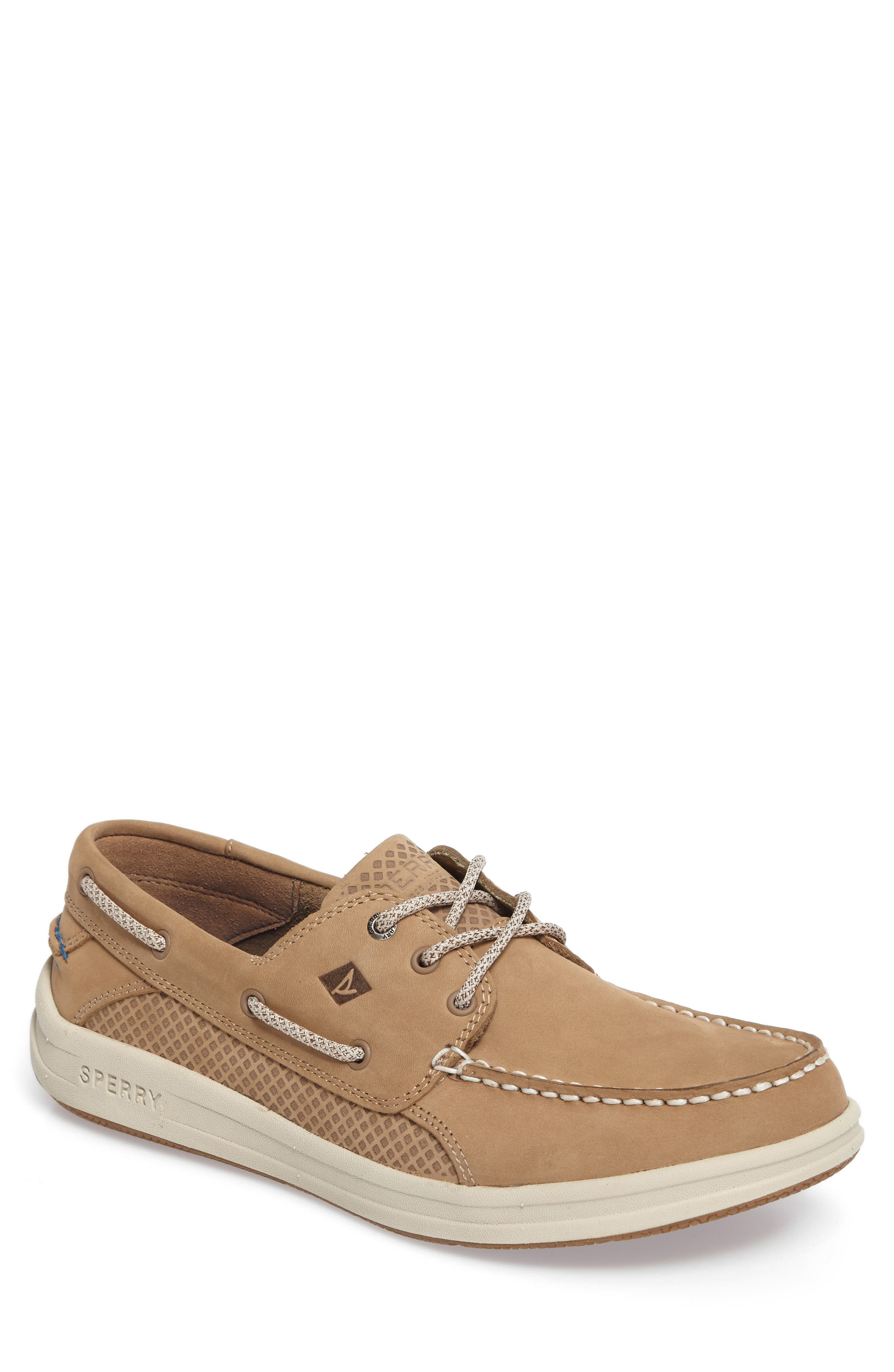 Gamefish Boat Shoe,                             Main thumbnail 1, color,                             Linen Leather