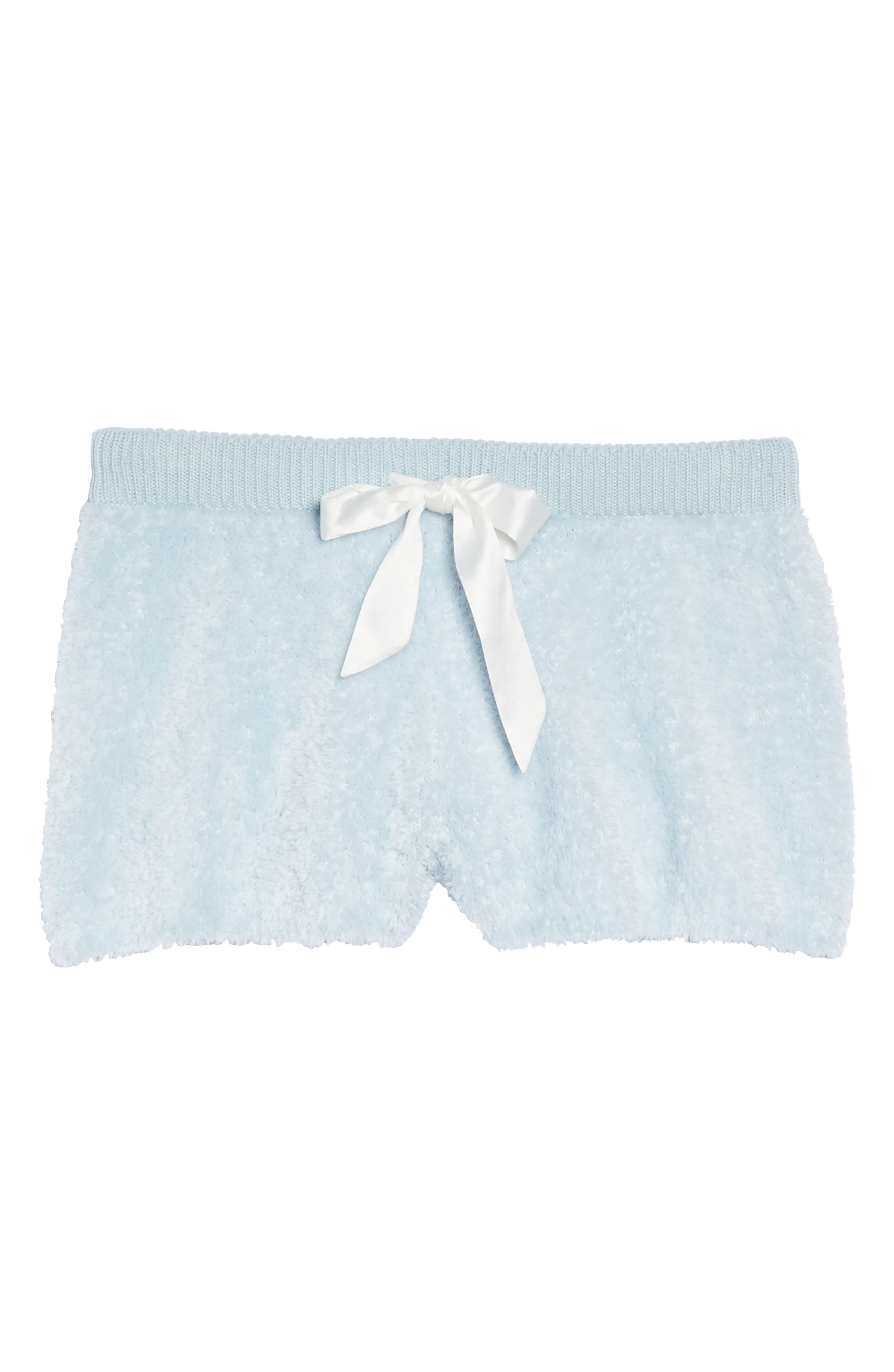 Fuzzy Lounge Shorts,                             Alternate thumbnail 4, color,                             Blue Drift