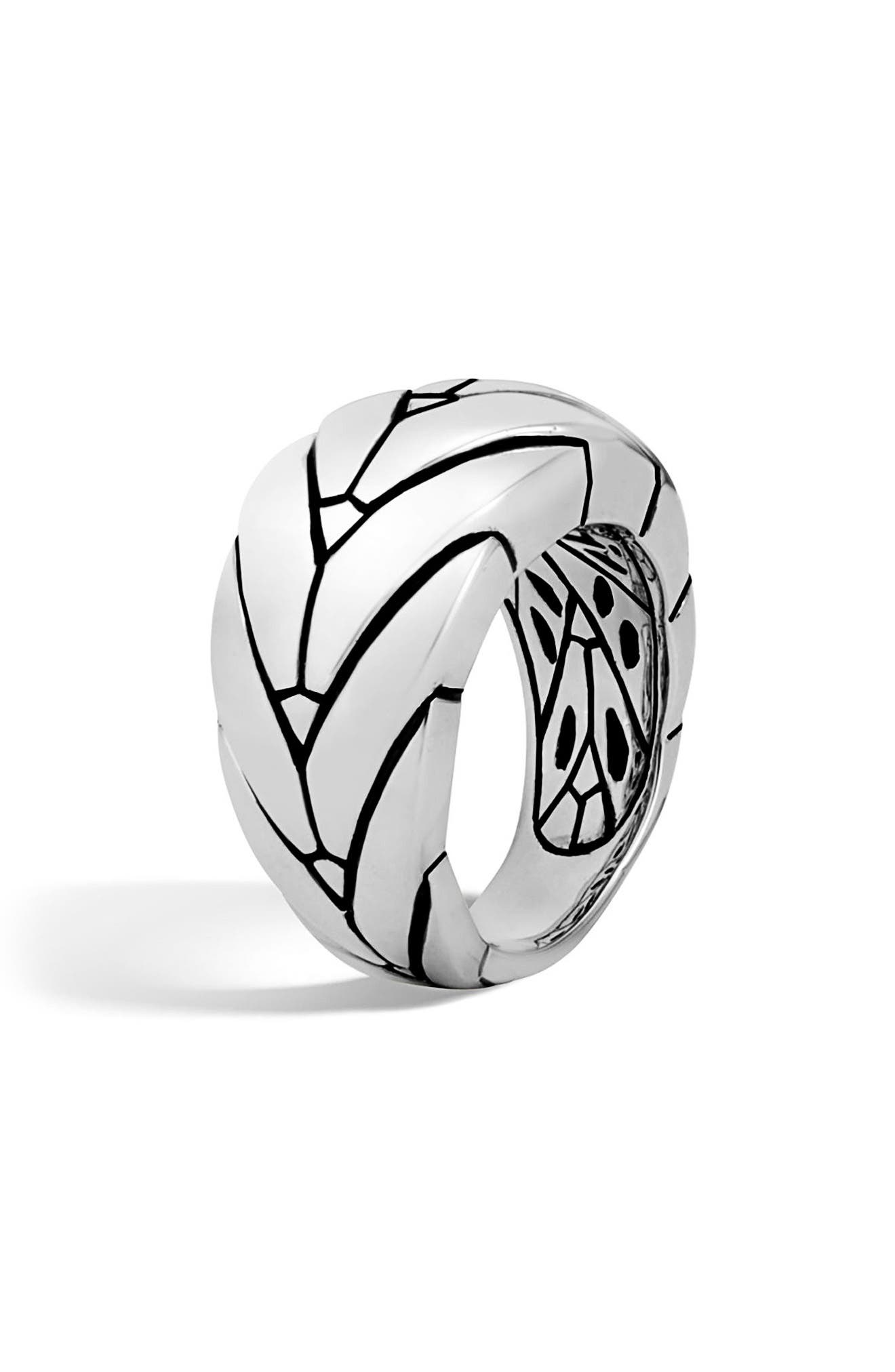 Medium Modern Chain Ring,                             Alternate thumbnail 3, color,                             Silver
