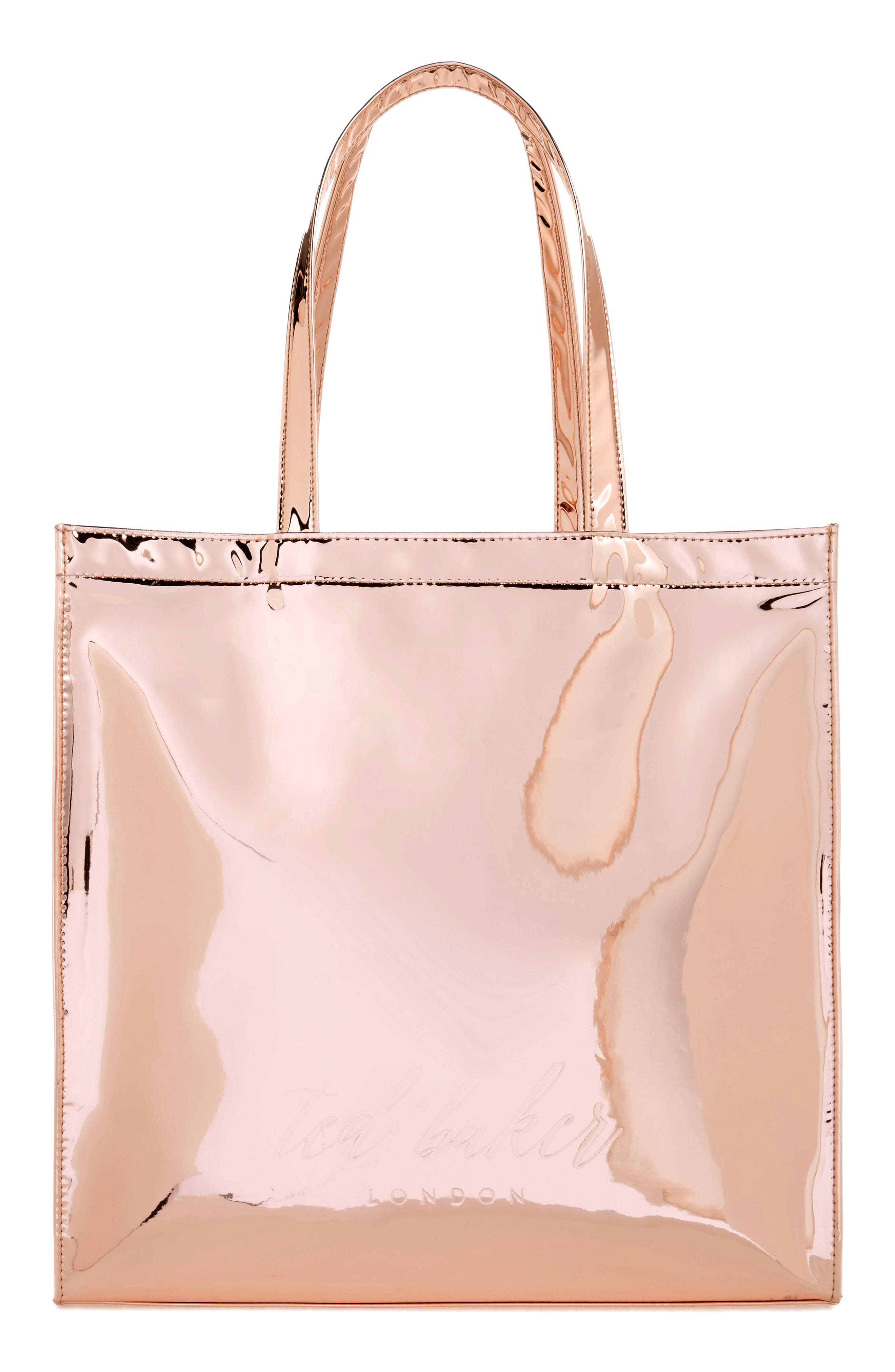 Jencon Mirrored Large Icon Tote,                             Alternate thumbnail 2, color,                             Rose Gold