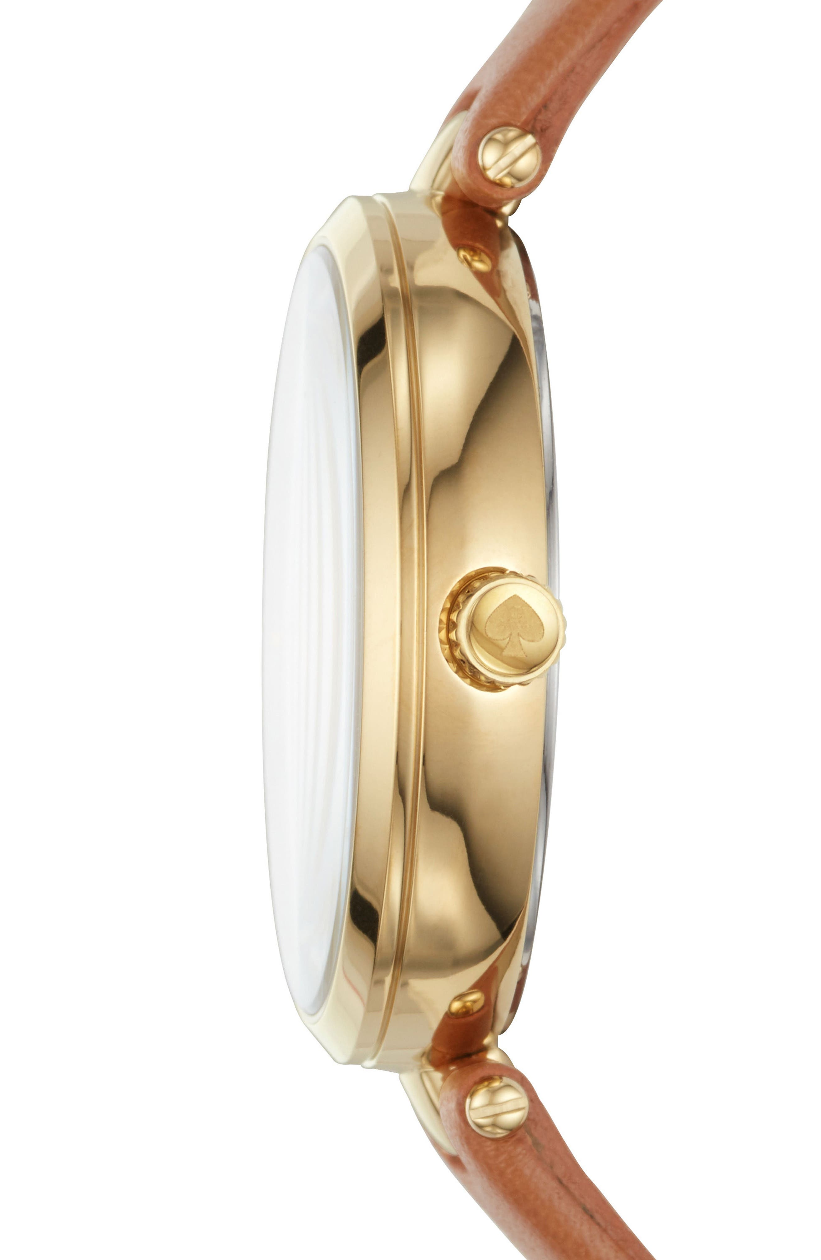 Alternate Image 2  - kate spade new york holland leather strap watch, 34mm