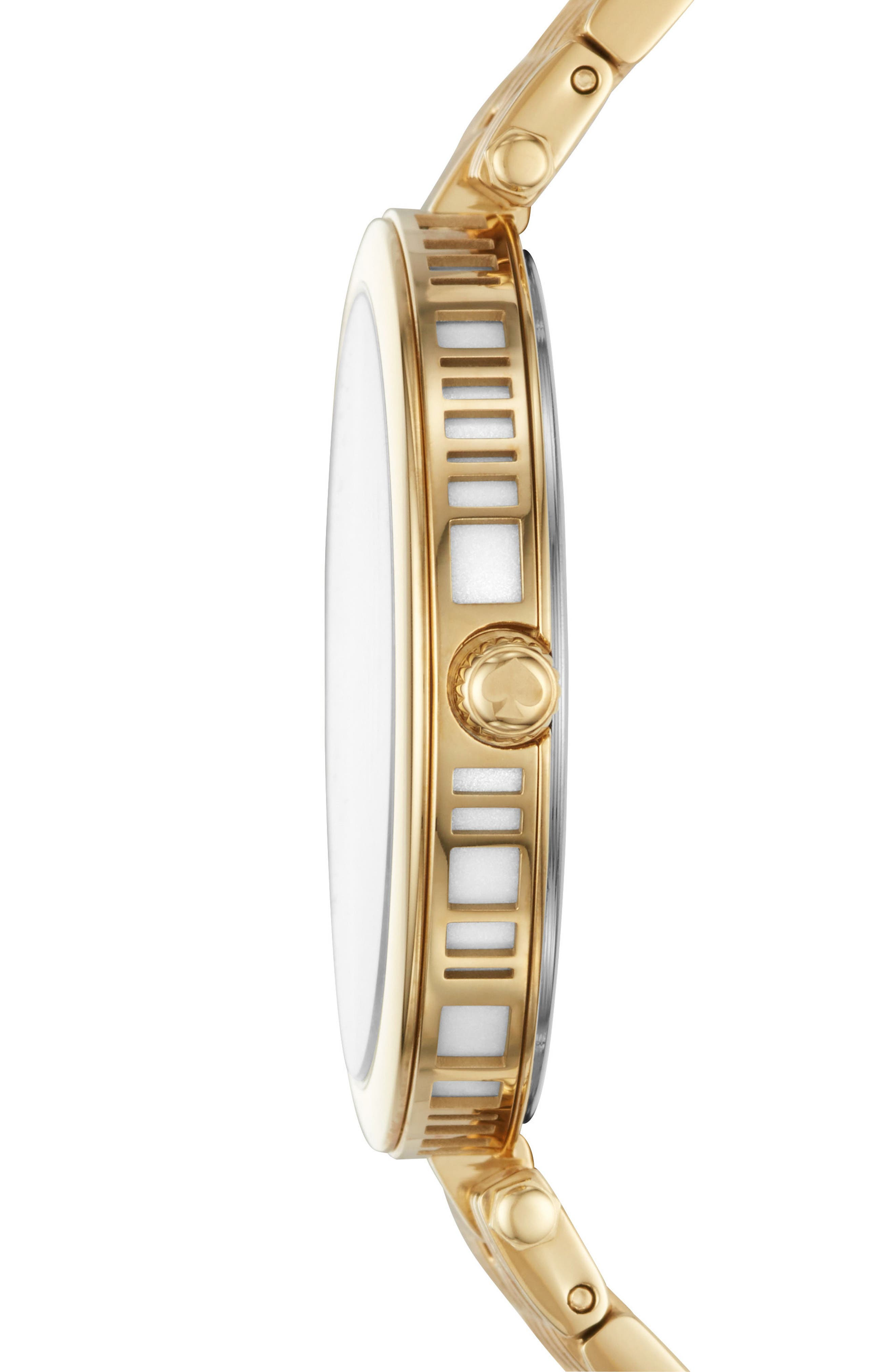 varick bracelet watch, 36mm,                             Alternate thumbnail 2, color,                             Gold/ Silver/ Gold
