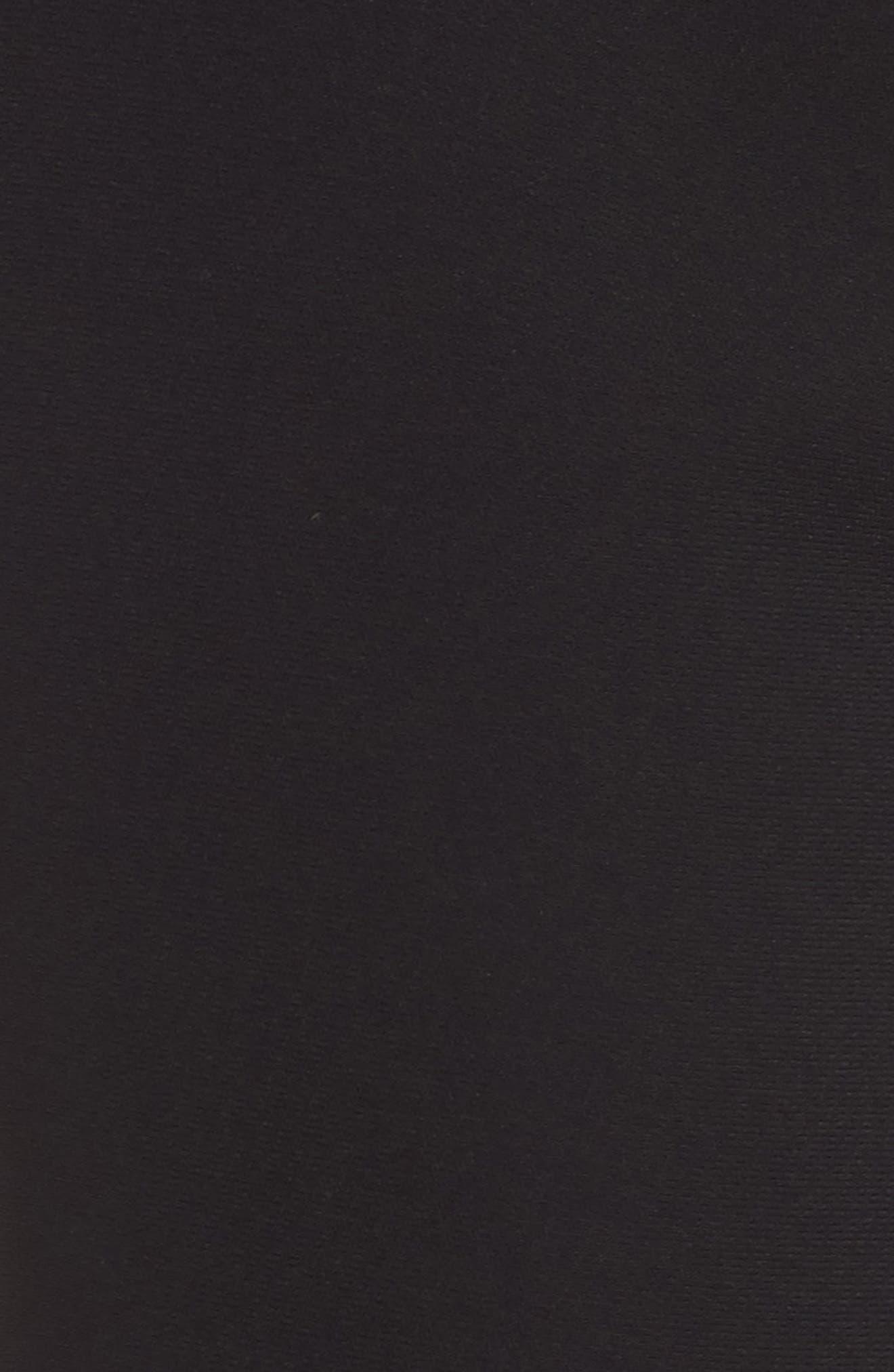 Ruffle Crop Pants,                             Alternate thumbnail 6, color,                             Black