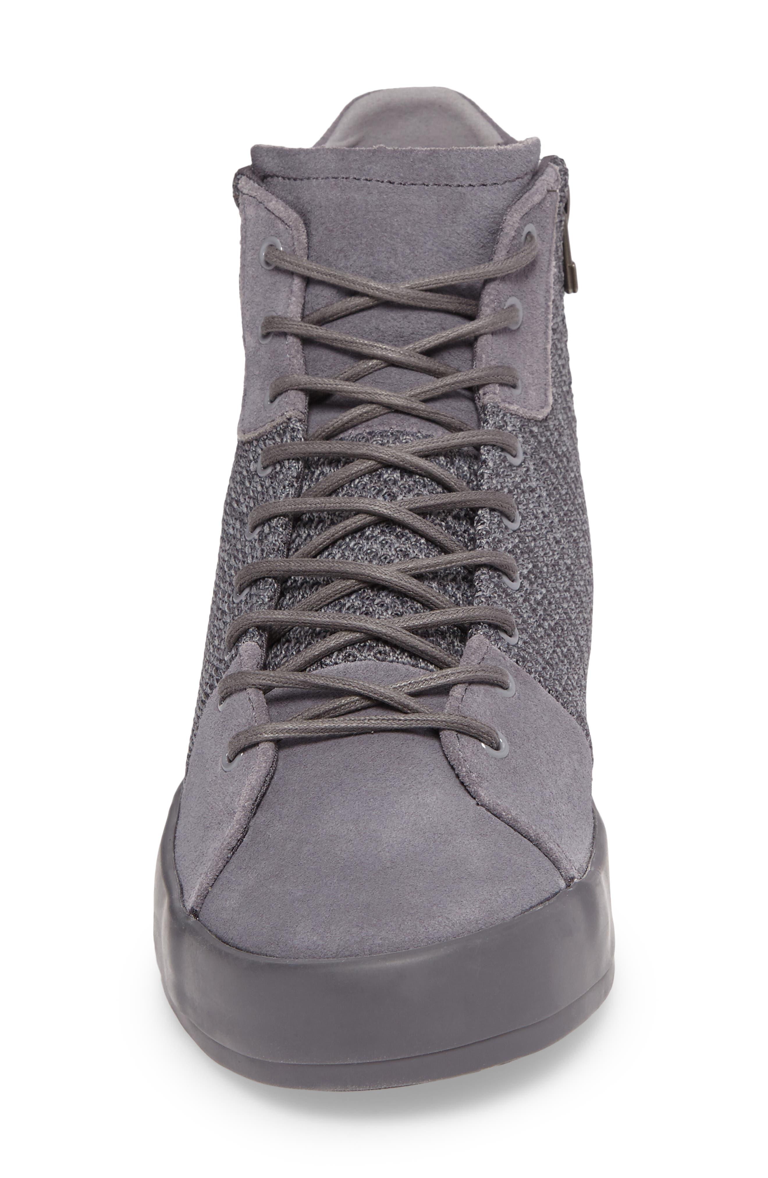 Carda Hi Sneaker,                             Alternate thumbnail 4, color,                             Smoke Leather
