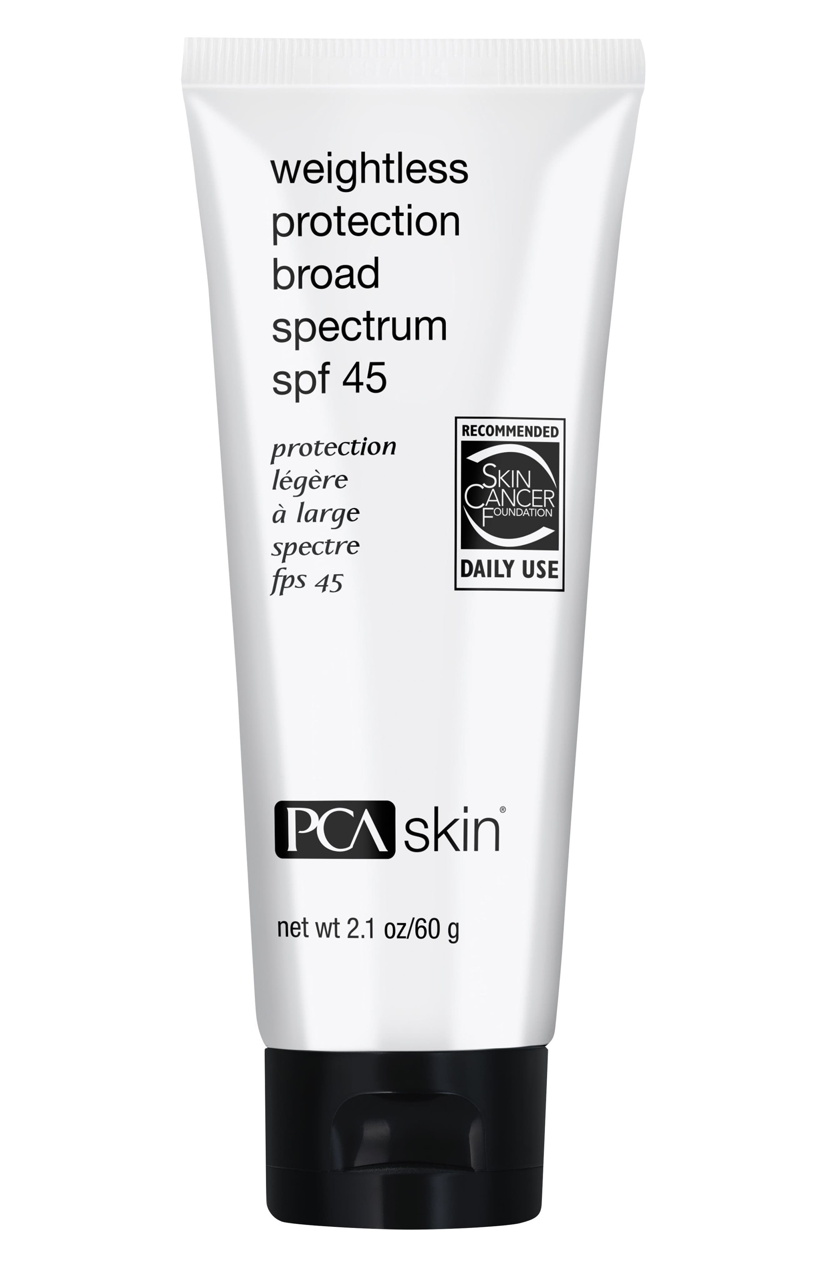 Weightless Protection SPF 45,                             Main thumbnail 1, color,                             No Color