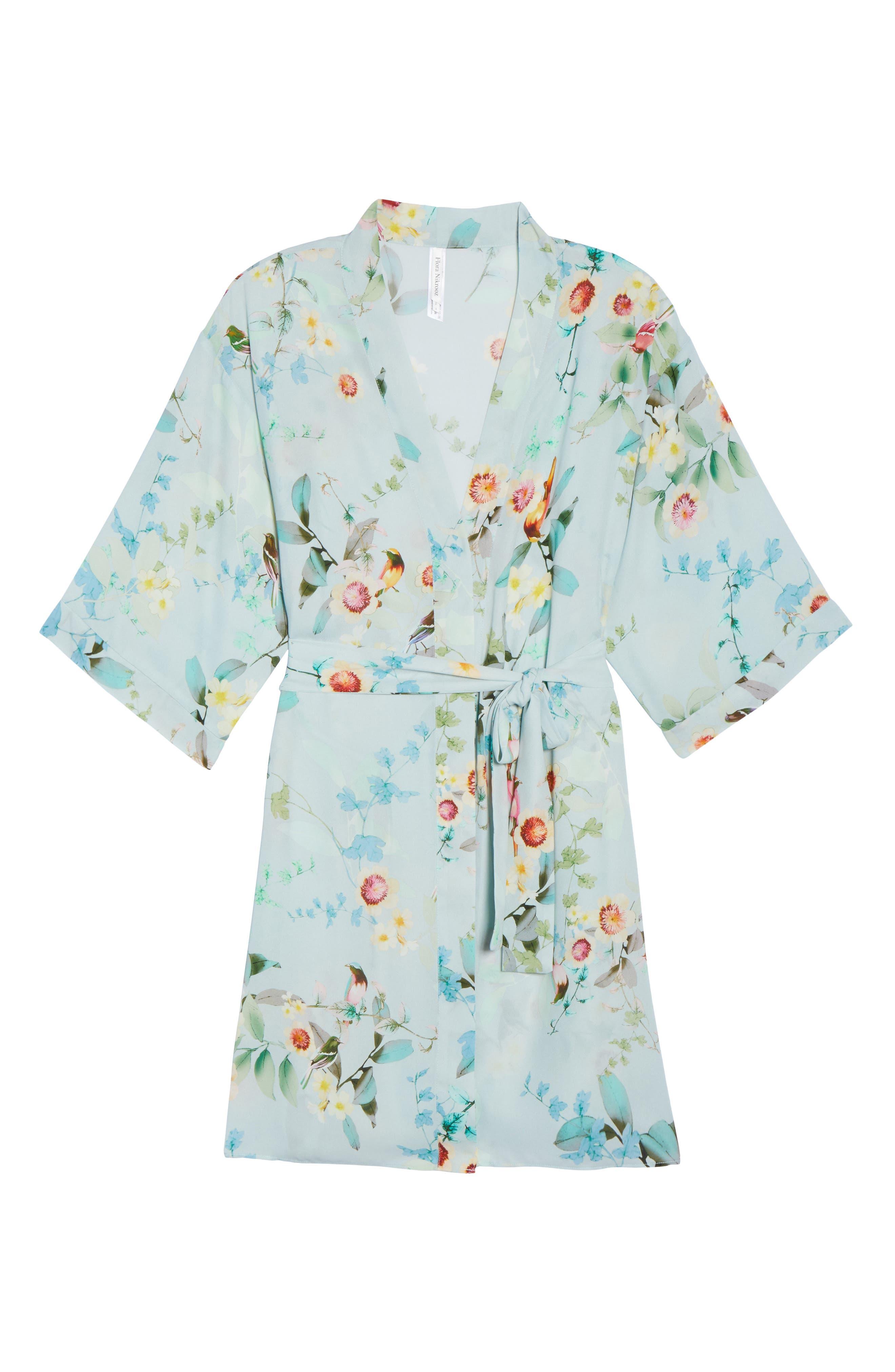 Alternate Image 4  - Flora Nikrooz Alison Floral Kimono Robe