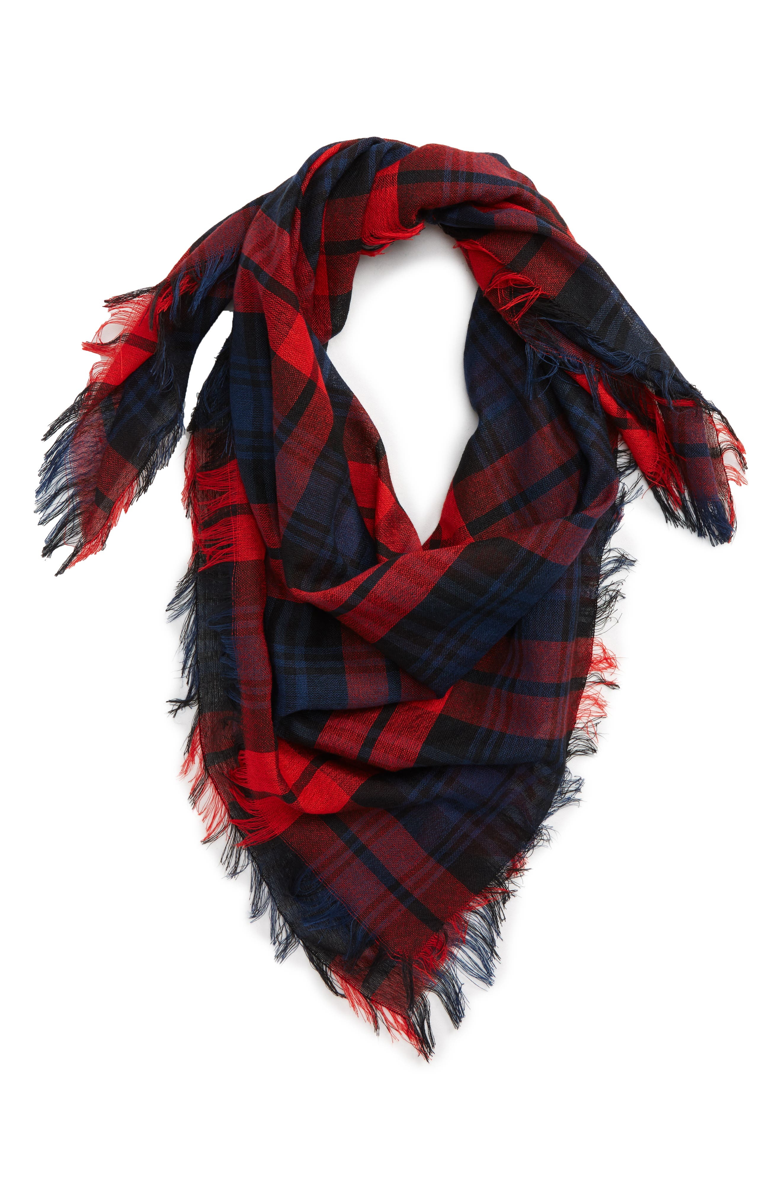 BP. Bold Plaid Square Scarf