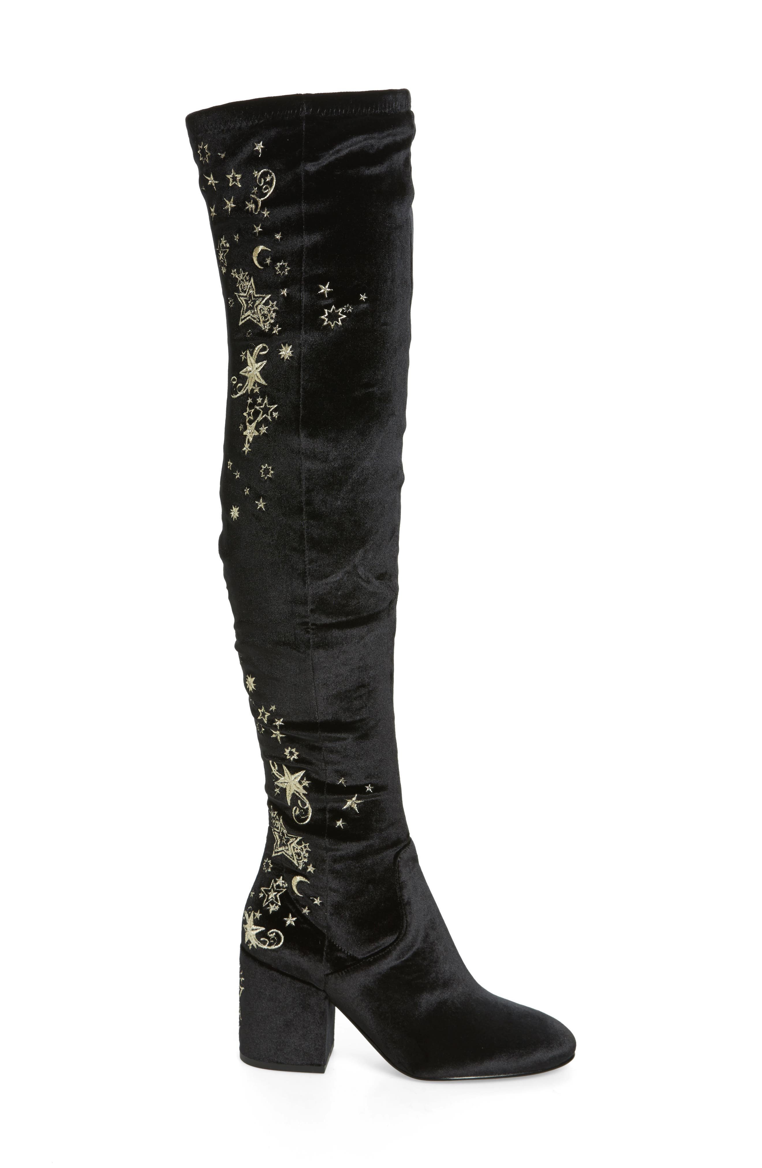 Alternate Image 3  - Ash Eros Embroidered Velvet Over the Knee Boot (Women)