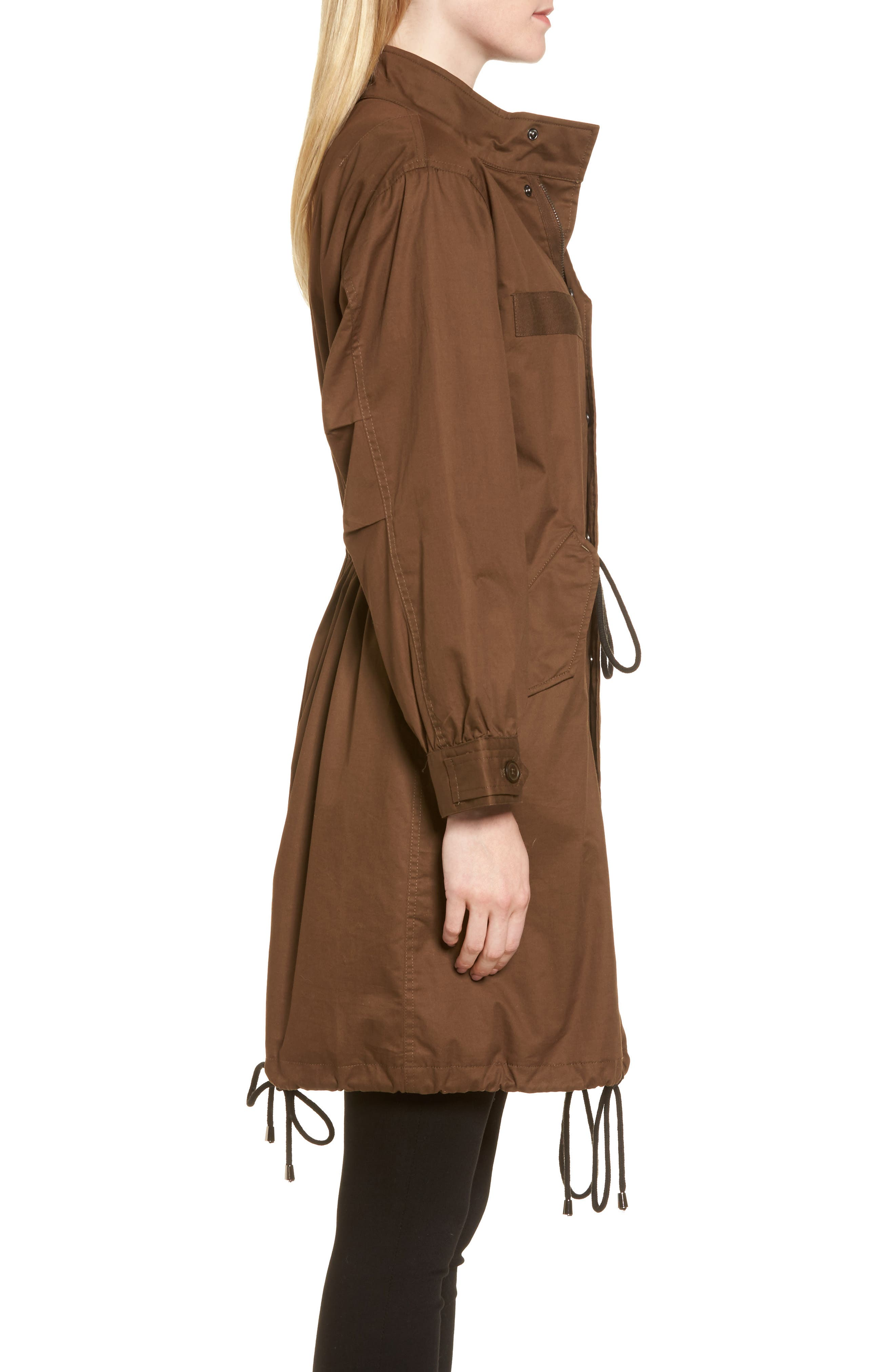 Oversize Military Coat,                             Alternate thumbnail 3, color,                             Olive