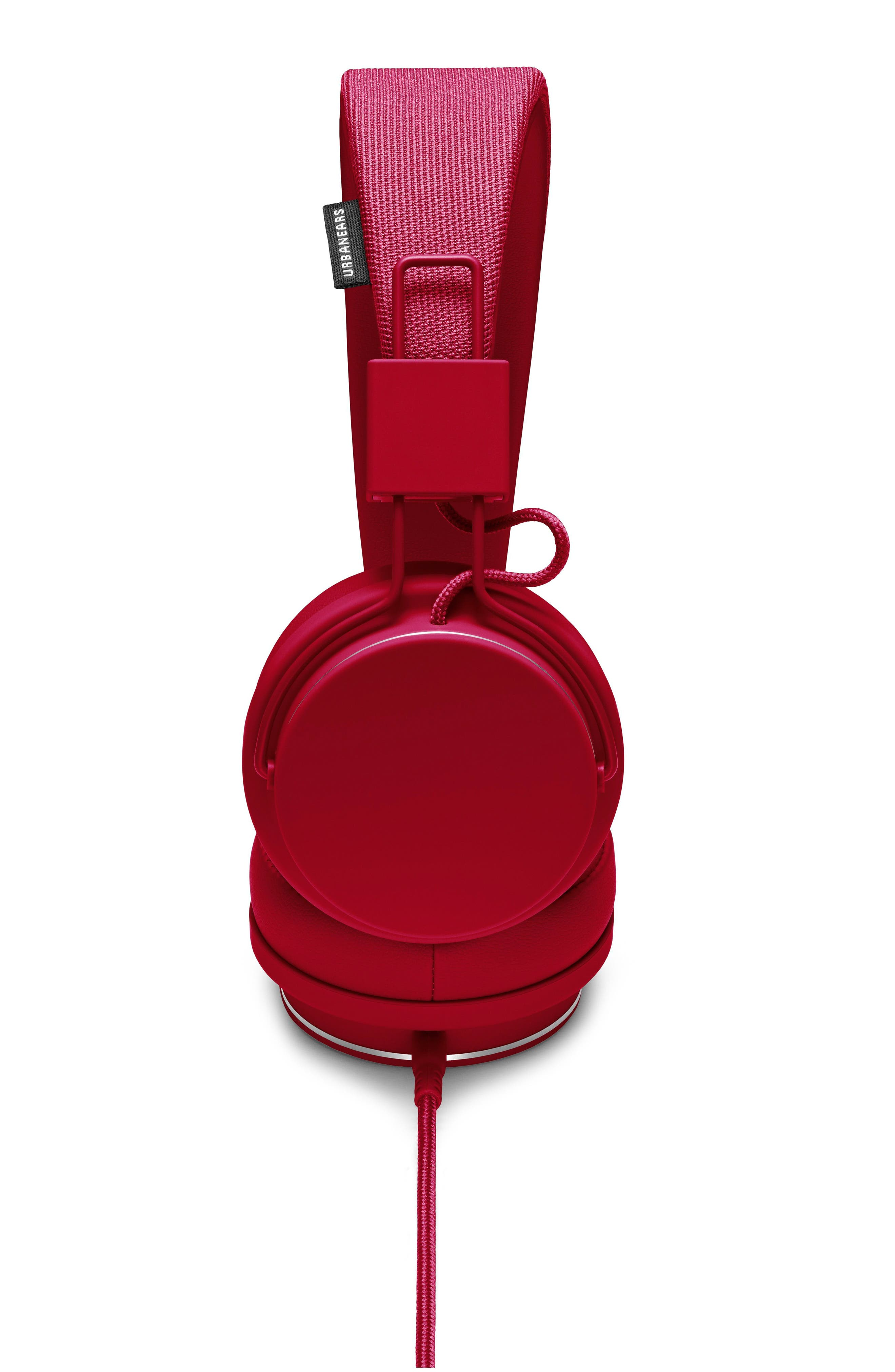 Plattan II On-Ear Headphones,                             Alternate thumbnail 4, color,                             Beryl Red