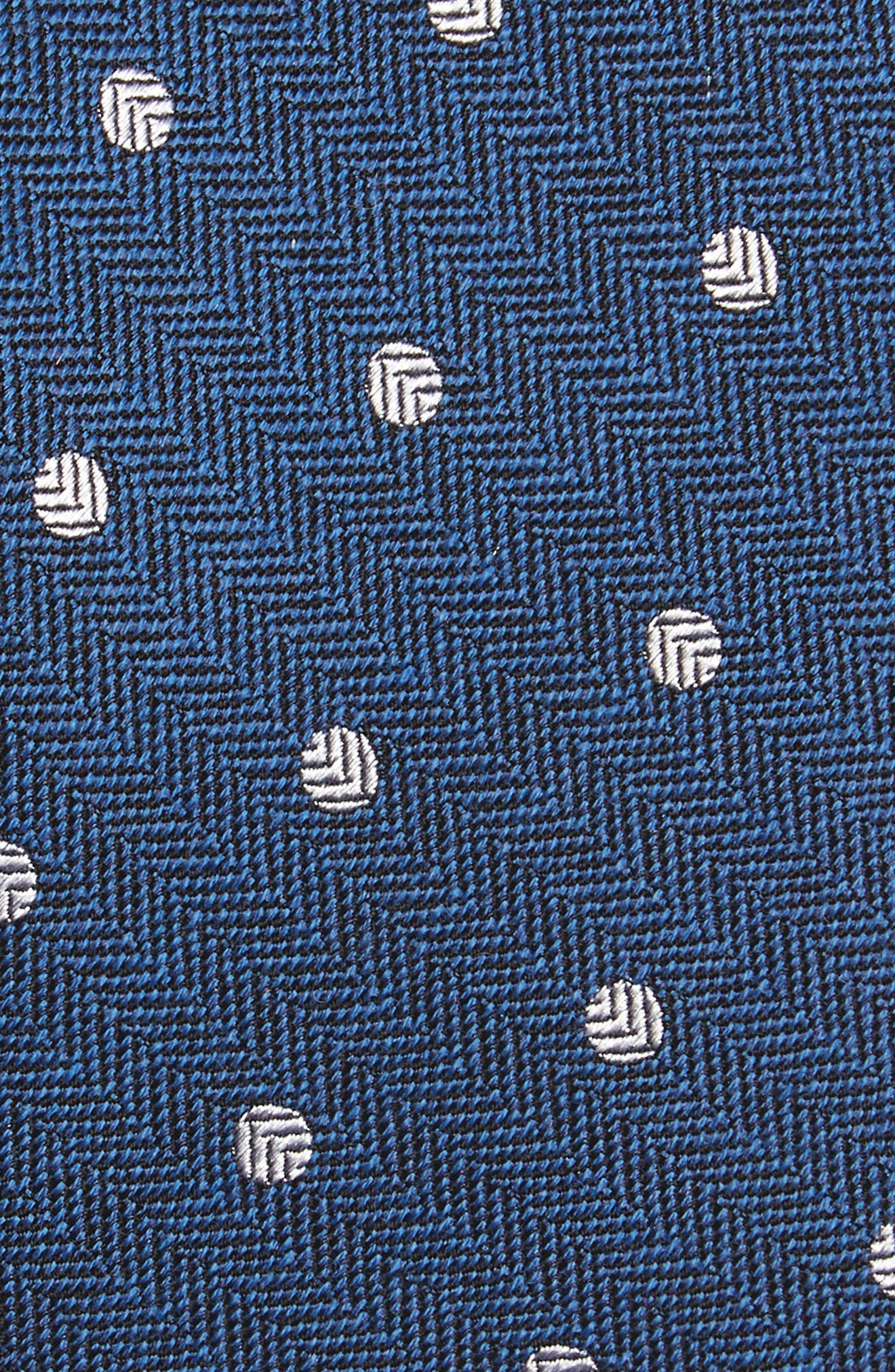 Dotted Hitch Silk & Wool Skinny Tie,                             Alternate thumbnail 2, color,                             Classic Blue