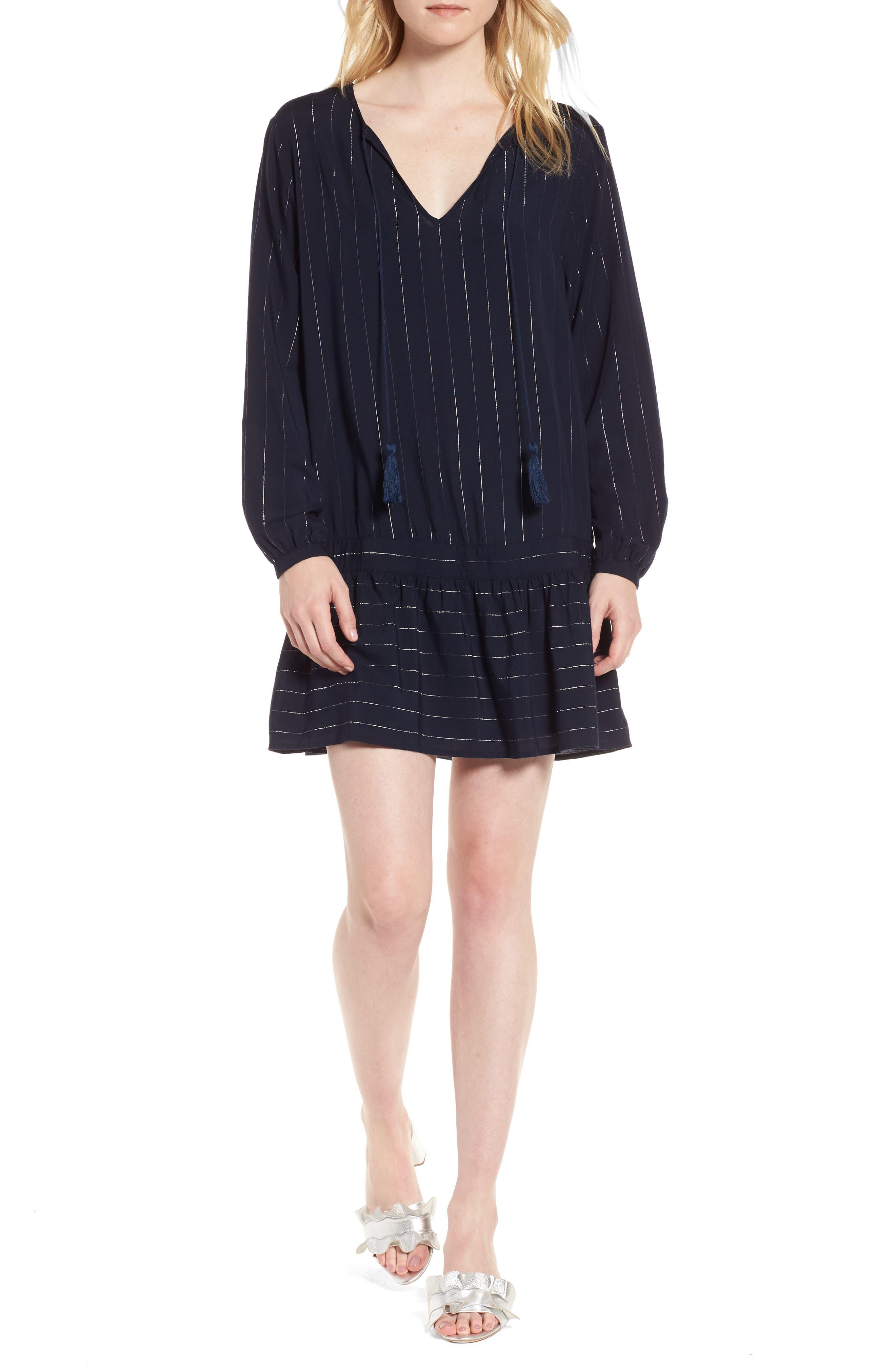 Lydia Shift Dress,                         Main,                         color, Panama Stripe