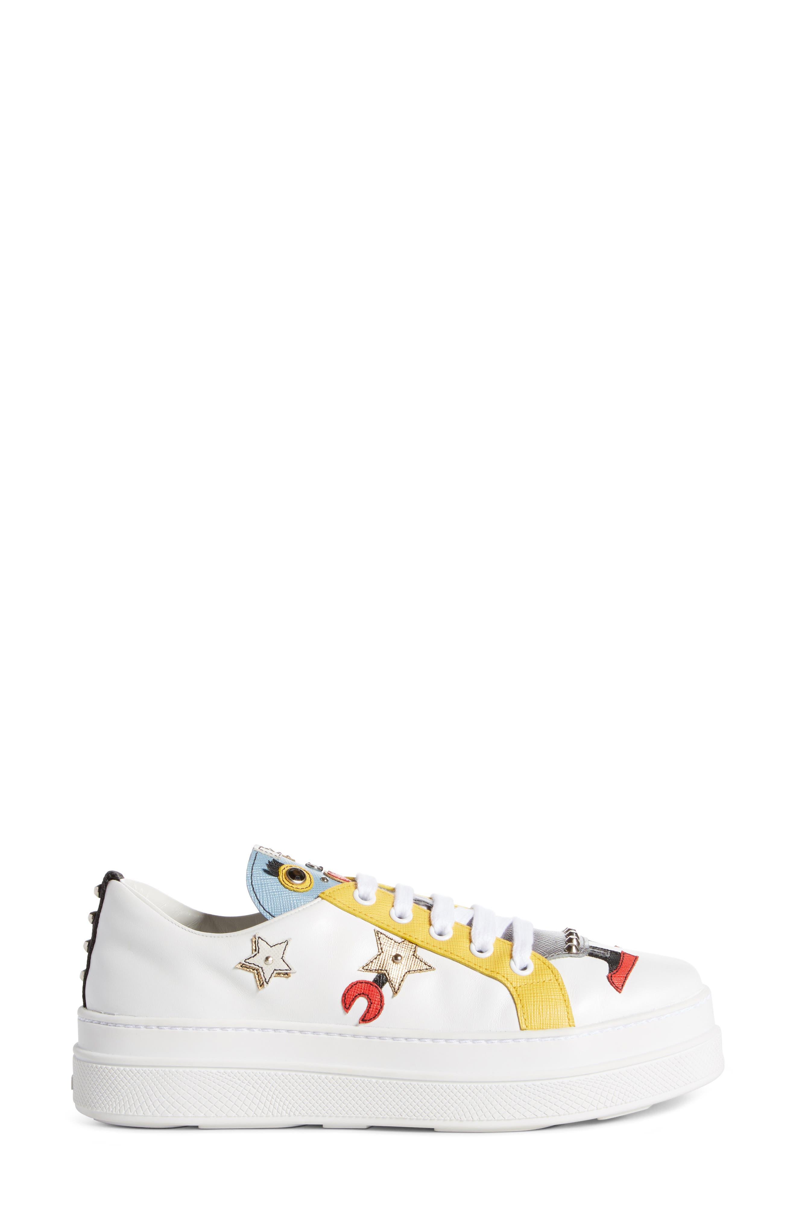 Robot Platform Sneaker,                             Alternate thumbnail 4, color,                             White