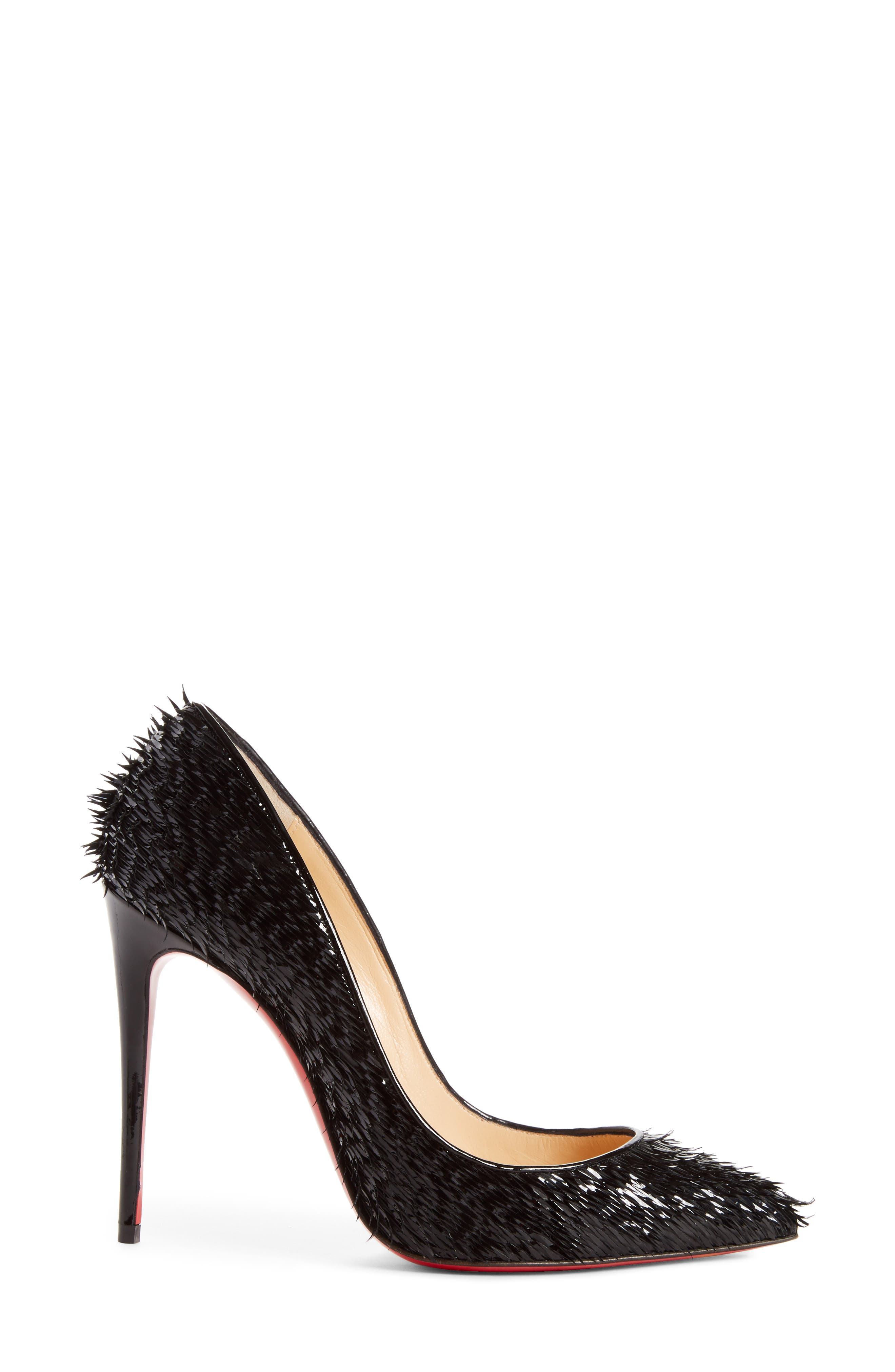 Pigalle Follies Pointy Toe Pump,                             Alternate thumbnail 3, color,                             Black