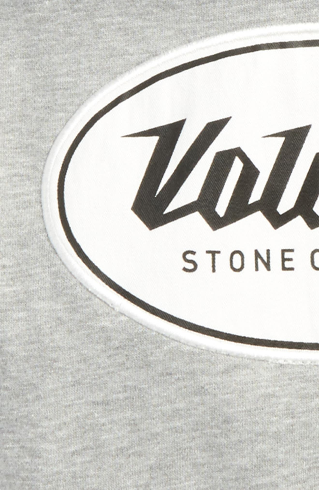 Stone Patch Hoodie,                             Alternate thumbnail 2, color,                             Grey Black