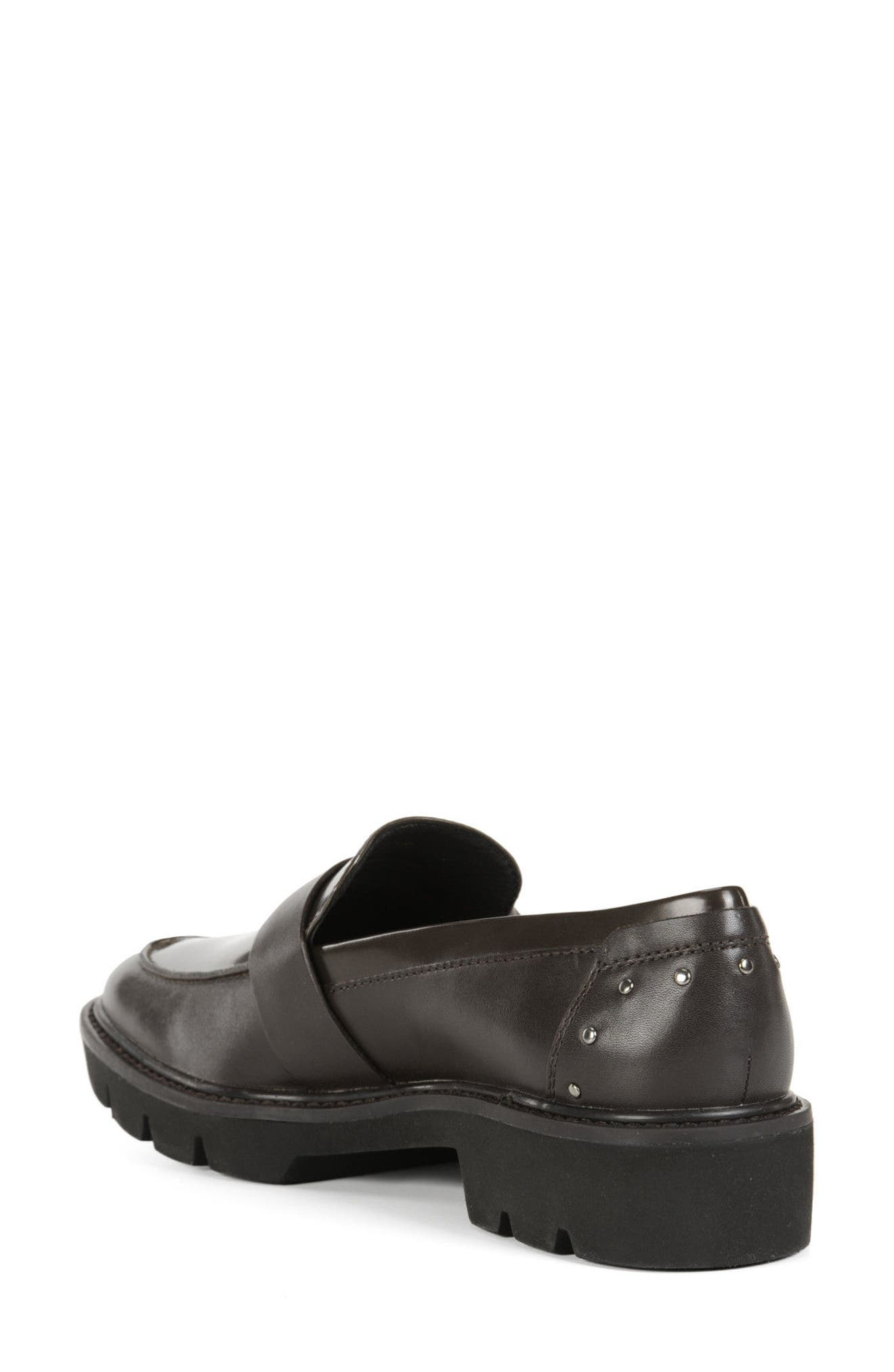 Quinlynn Loafer,                             Alternate thumbnail 2, color,                             Brown Leather