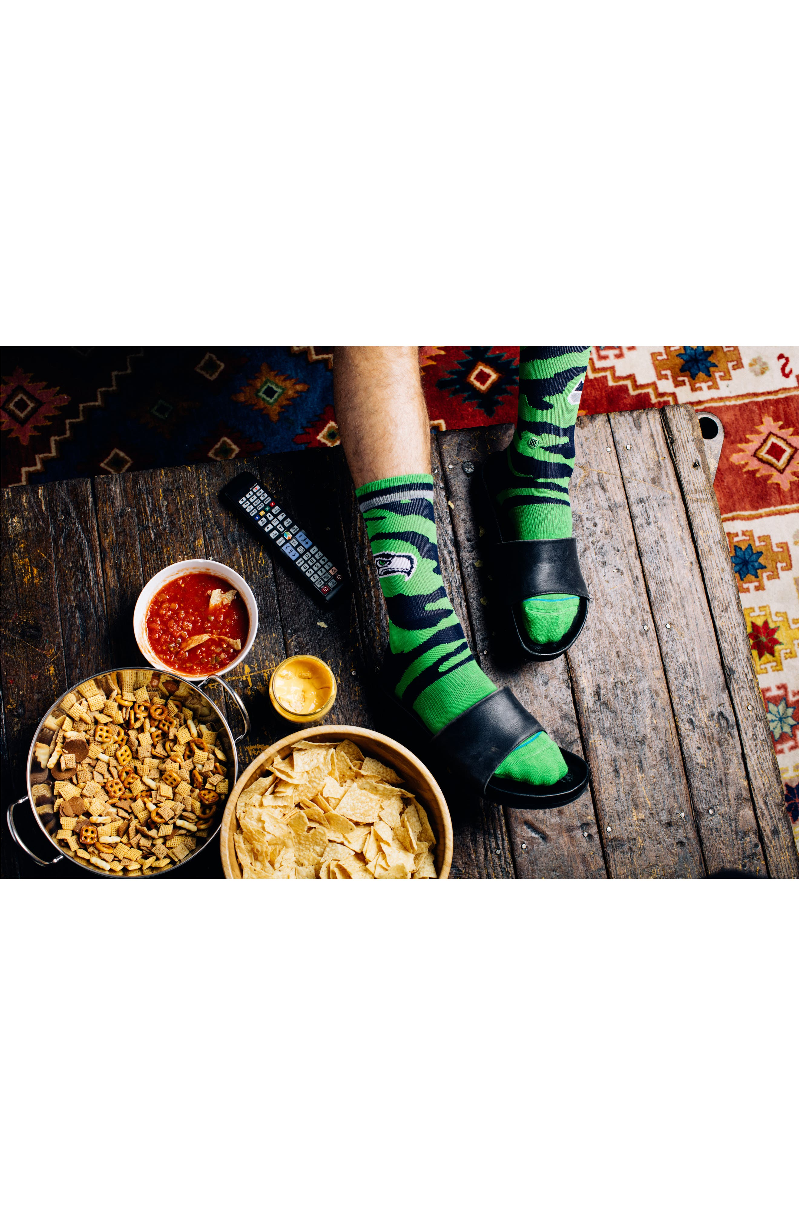 Alternate Image 6  - Stance Seattle Seahawks - Fade Socks