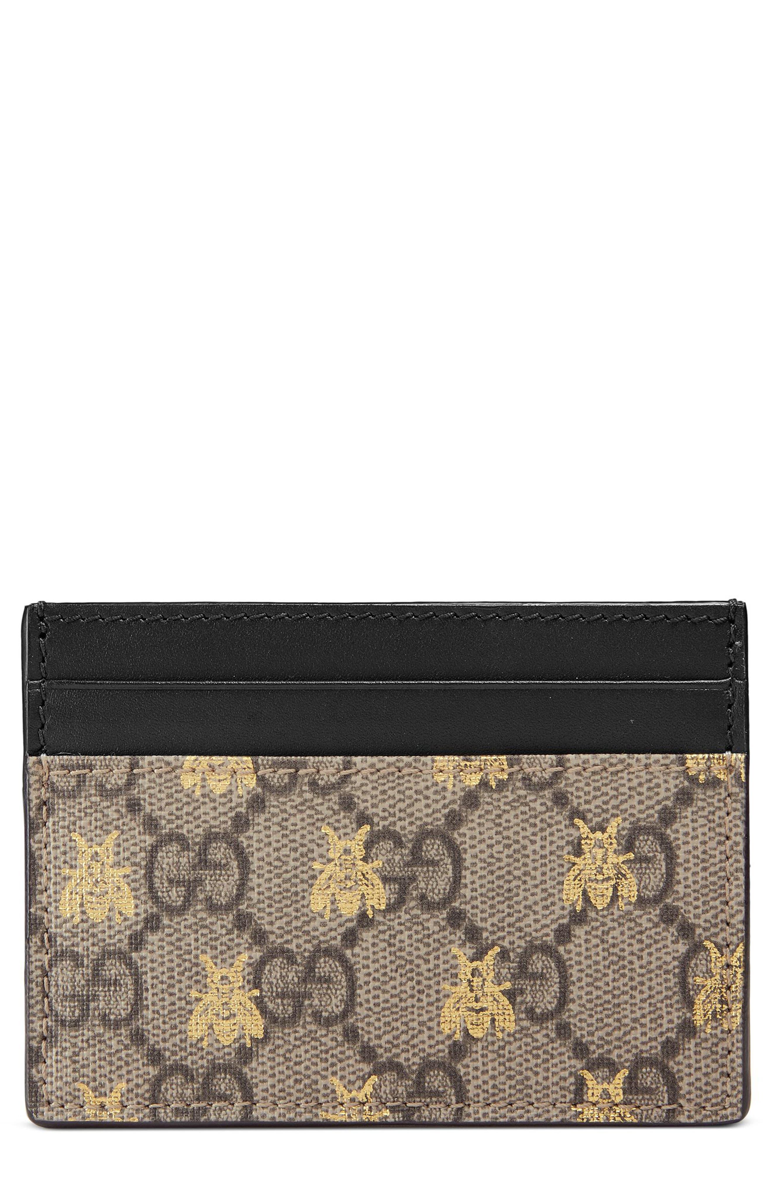 Gucci Linea Bee GG Card Case
