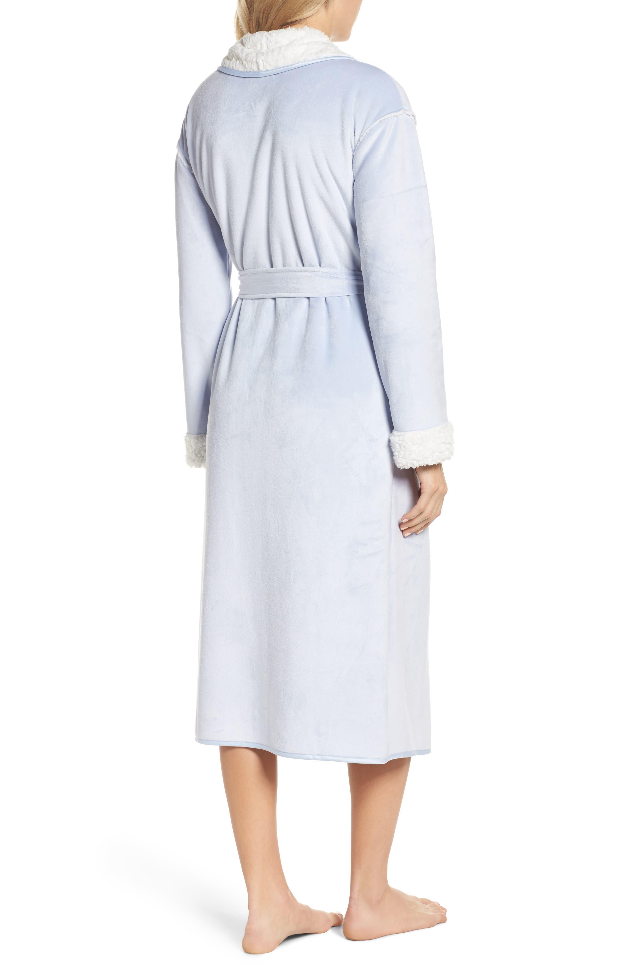 Wintertide Plush Robe,                             Alternate thumbnail 2, color,                             Blue Xenon