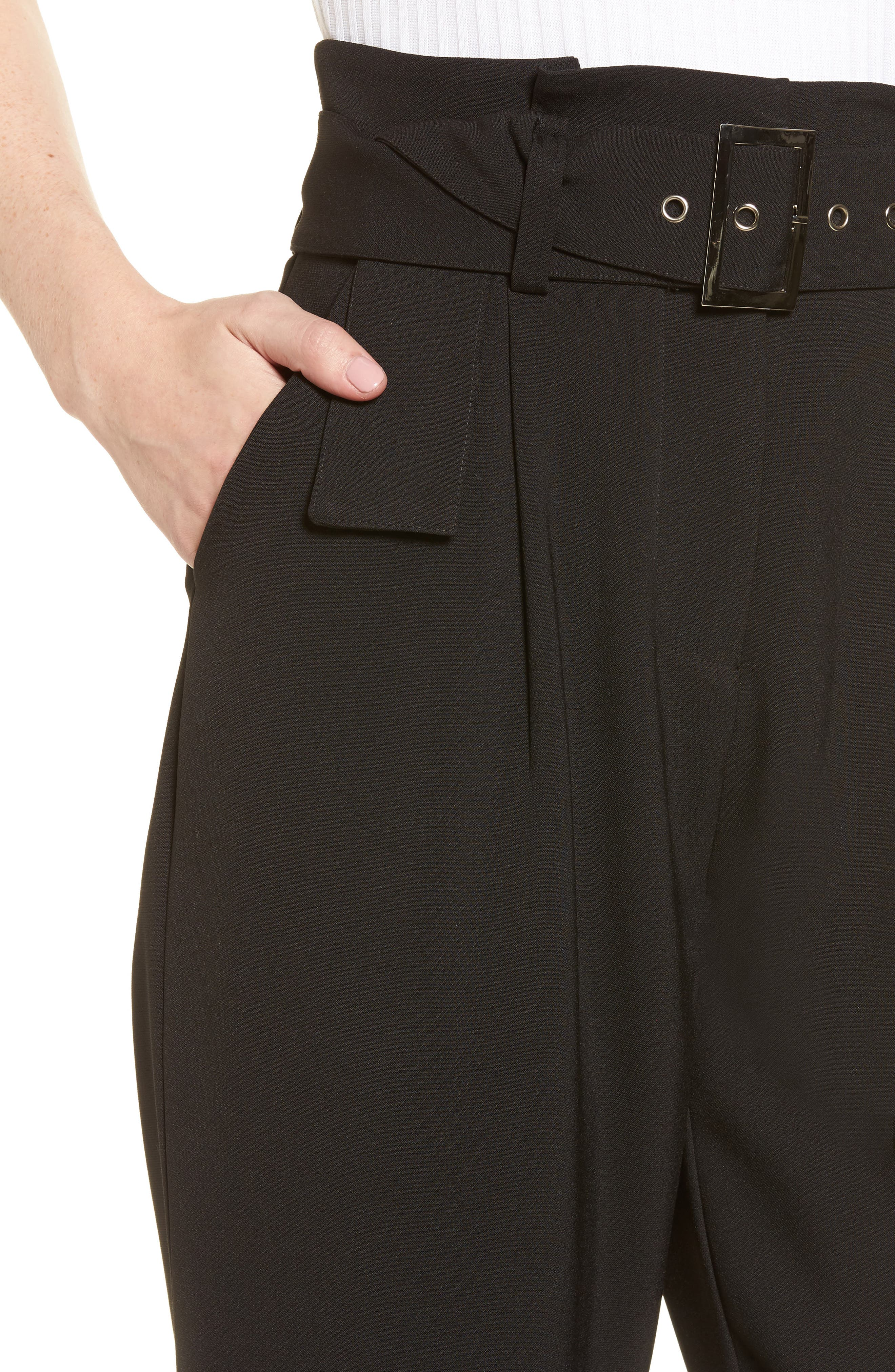 Alternate Image 5  - LOST INK Paperbag Waist Trousers