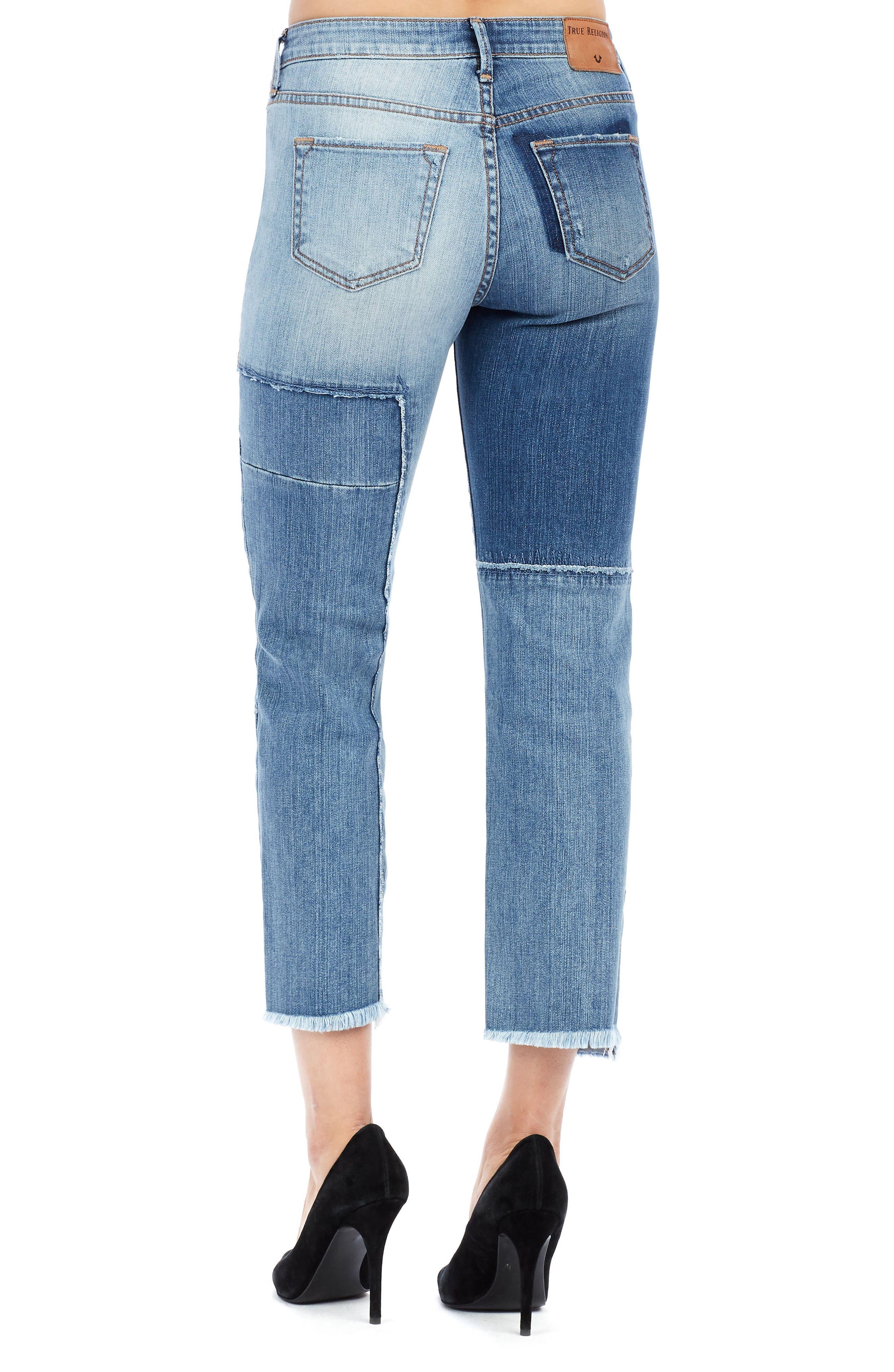 Alternate Image 2  - True Religion Brand Jeans Stovepipe High Waist Crop Jeans (Mykonos)