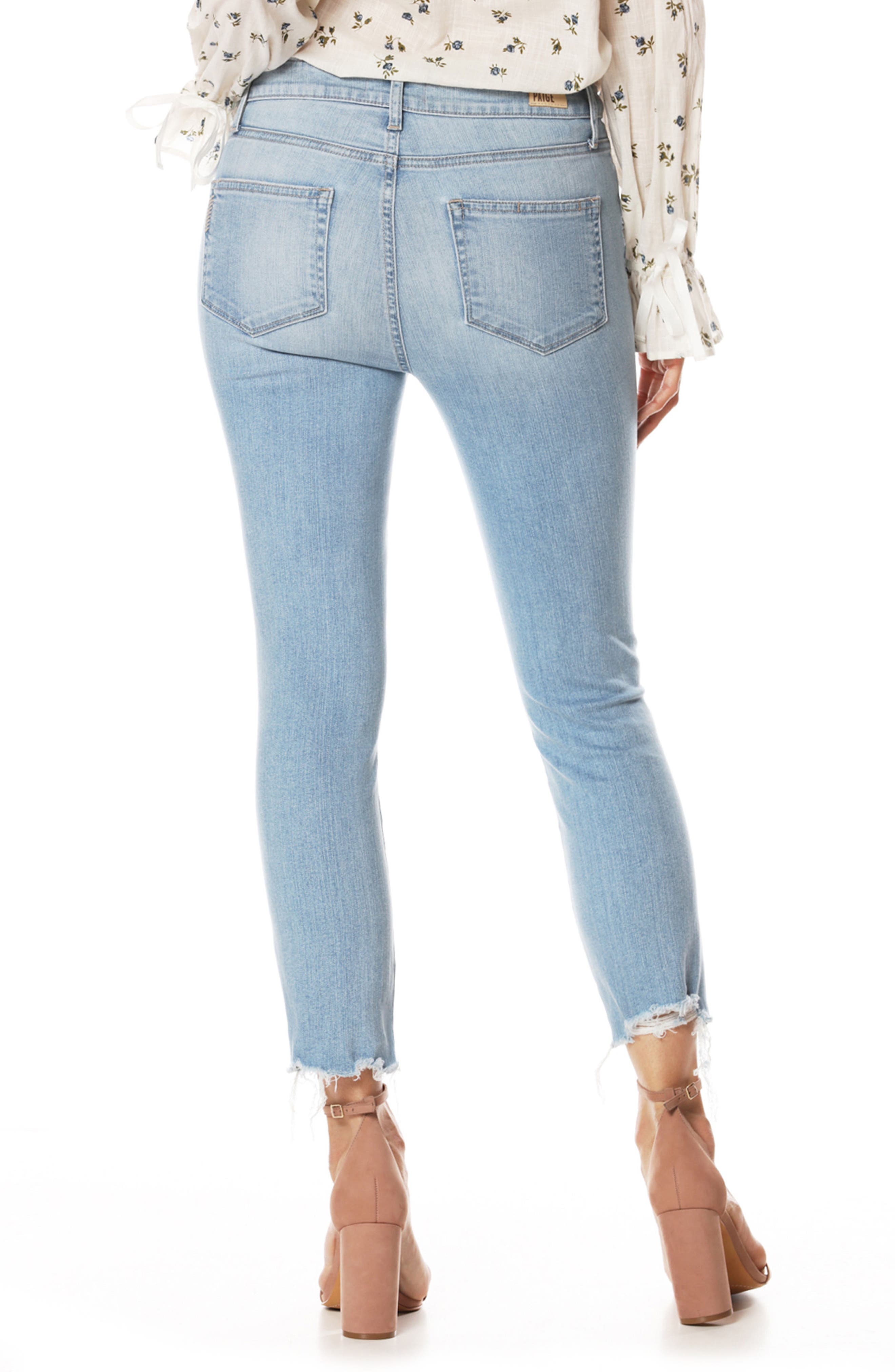 Hoxton High Waist Ankle Straight Leg Jeans,                             Alternate thumbnail 2, color,                             Lumina