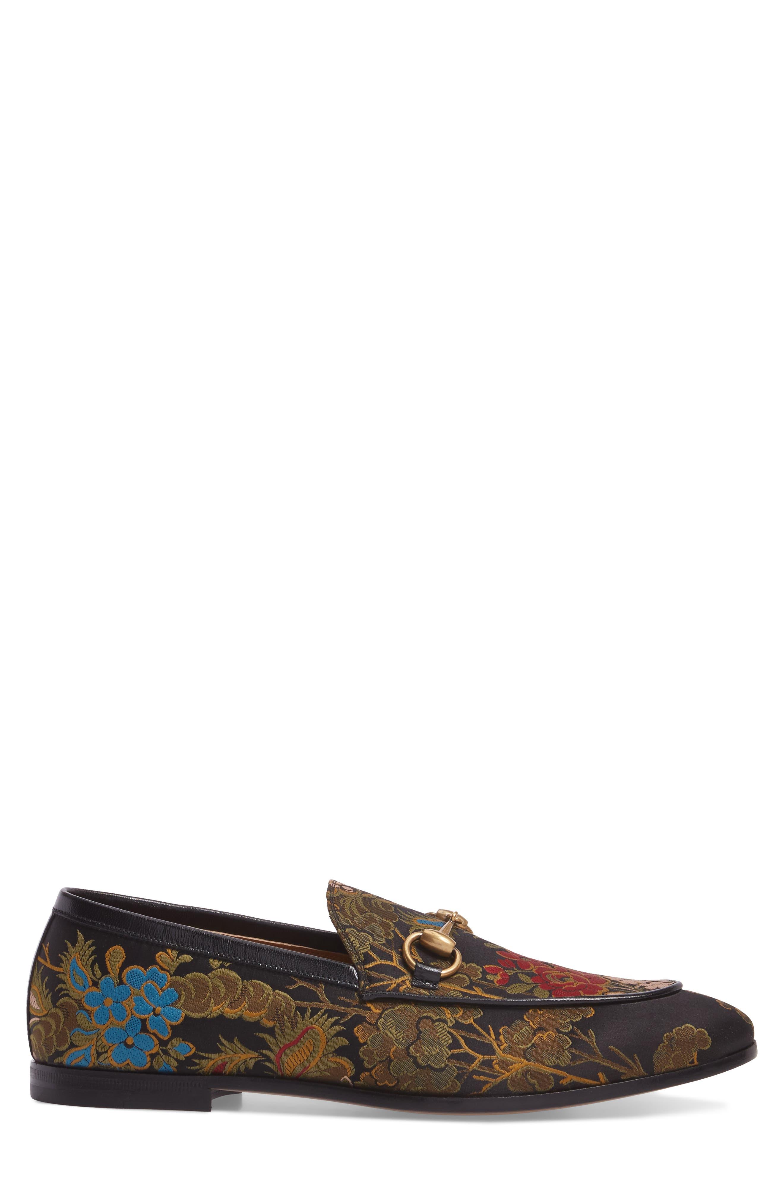Alternate Image 3  - Gucci Jordaan Jacquard Bit Loafer (Men)