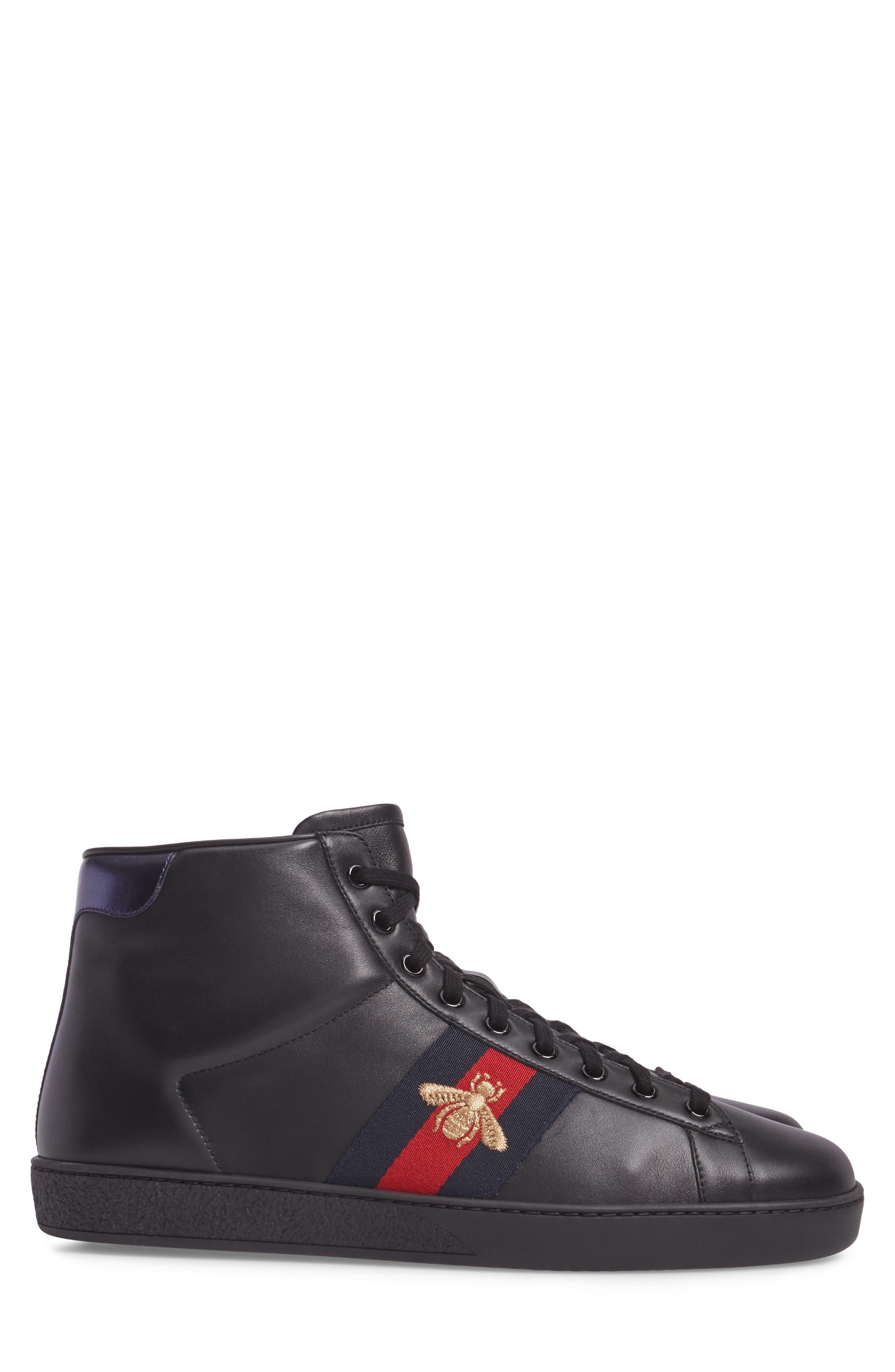 Ace High Top Sneaker,                             Alternate thumbnail 3, color,                             Black