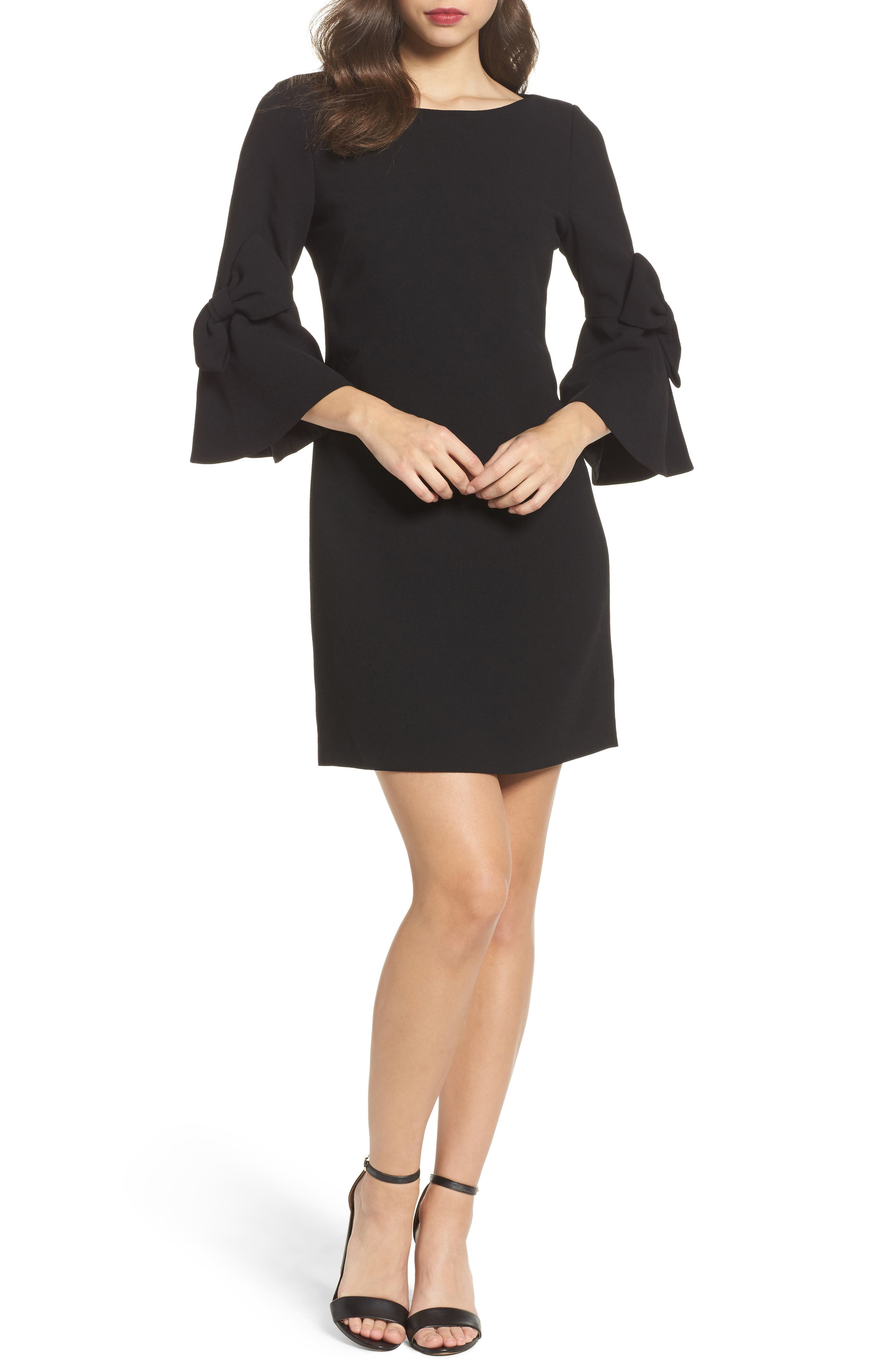 Eliza J Bell Sleeve Shift Dress (Regular & Petite)