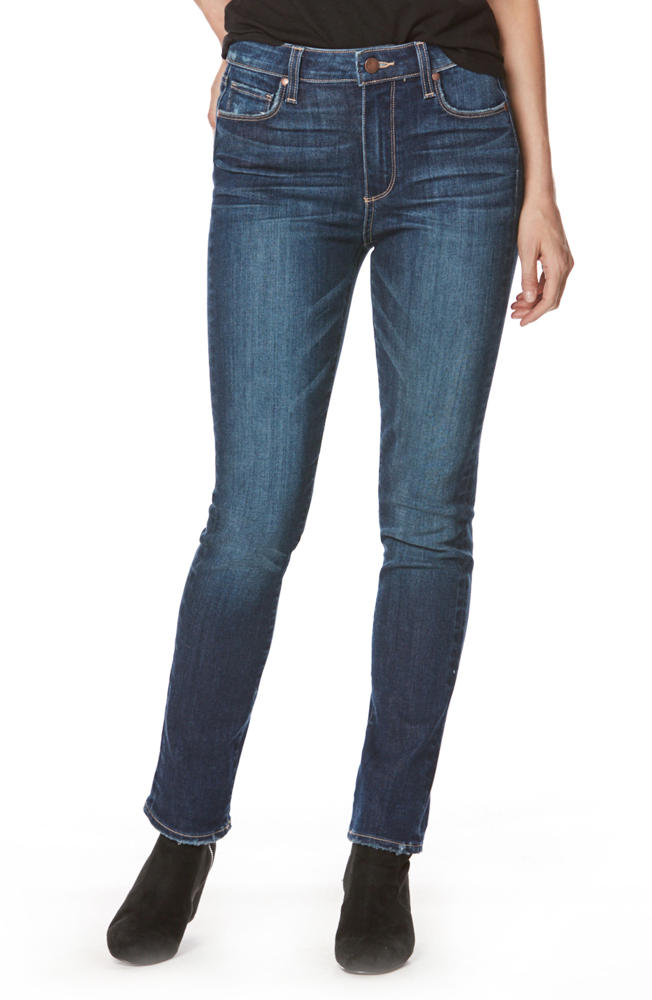 PAIGE Transcend Vintage - Hoxton High Waist Peg Jeans (Beam)