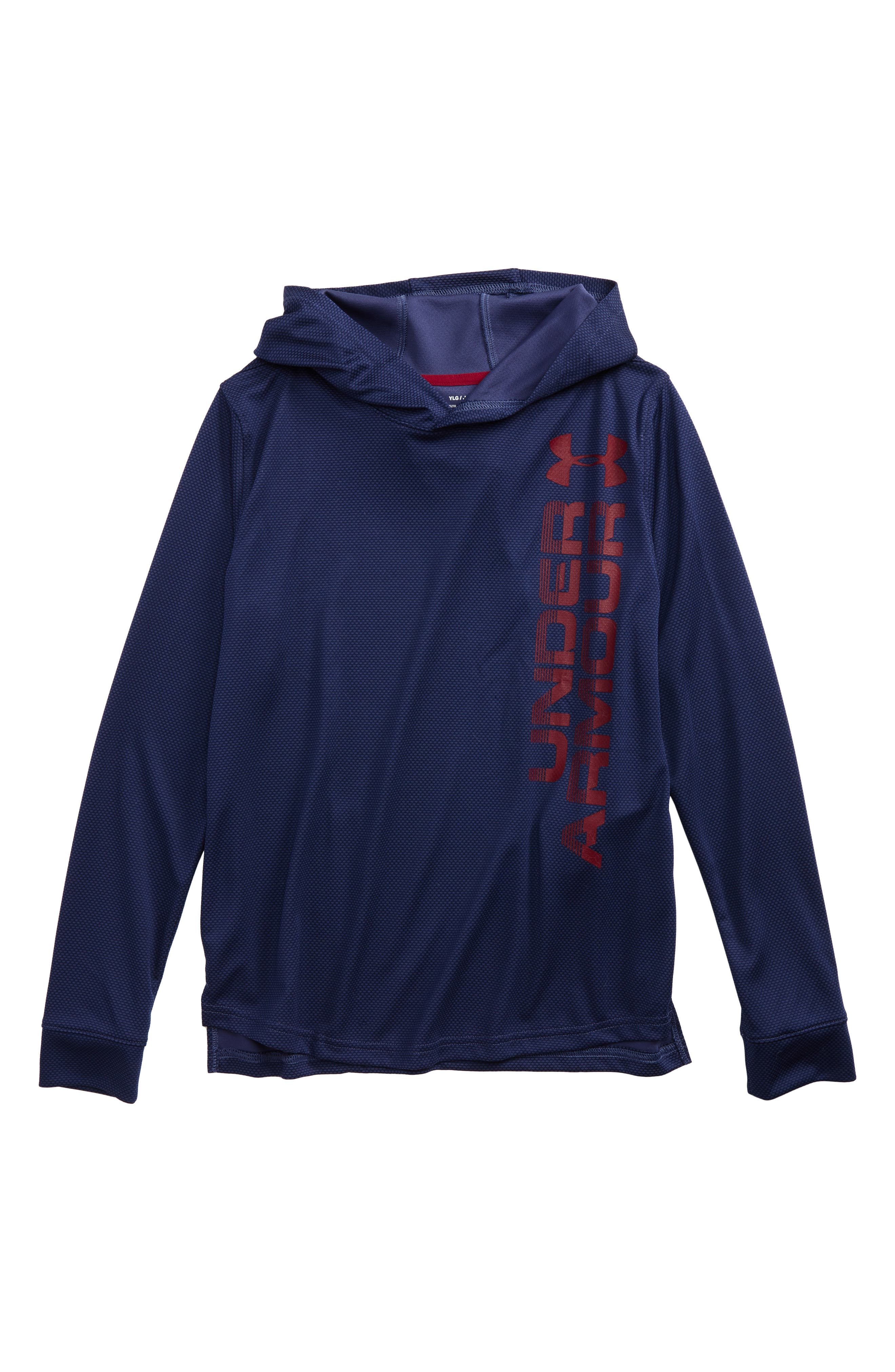 Under Armour Textured Tech Hoodie (Big Boys)