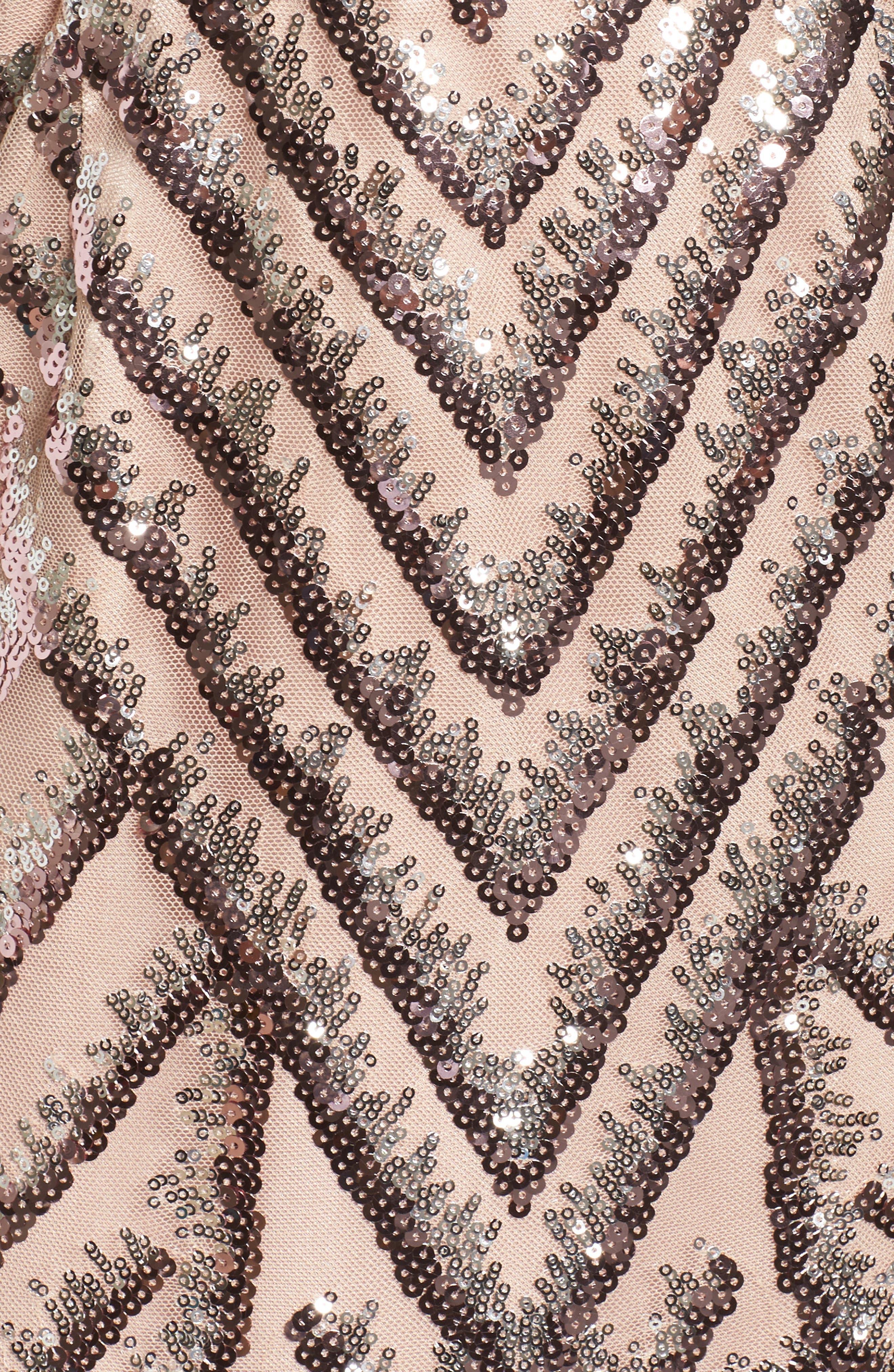 Sequin Blouson Dress,                             Alternate thumbnail 5, color,                             Pink