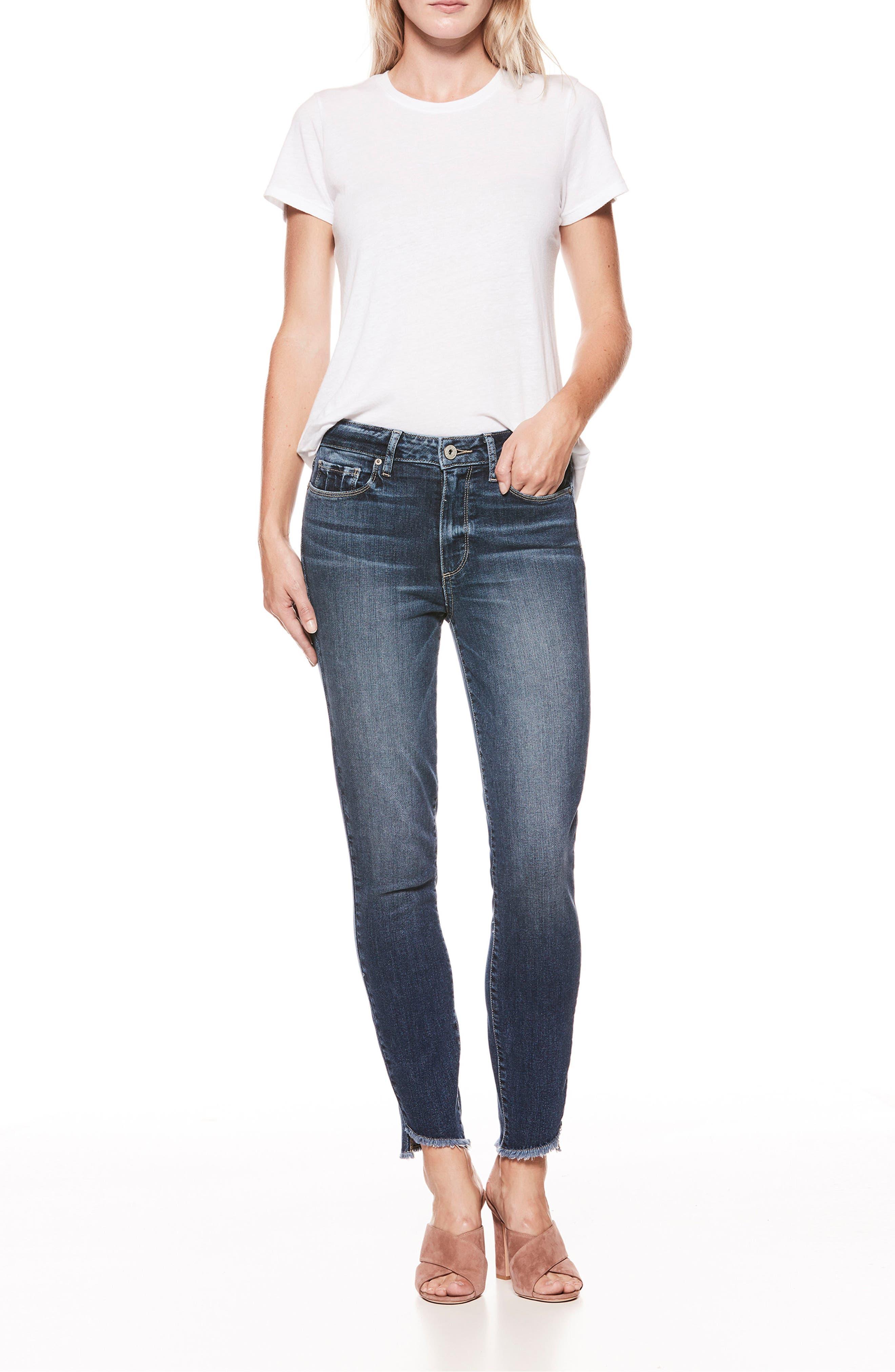 Hoxton High Waist Ankle Skinny Jeans,                             Alternate thumbnail 2, color,                             Blue