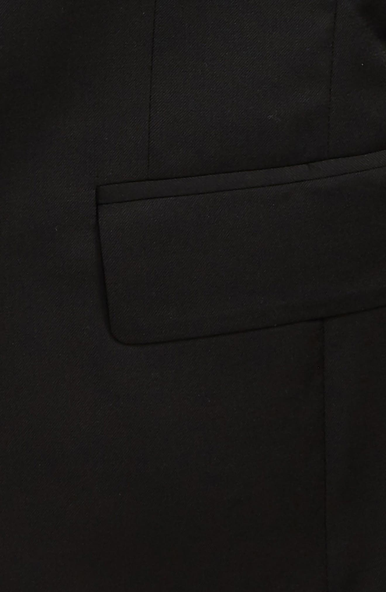 Solid Wool Sport Coat,                             Alternate thumbnail 2, color,                             Black