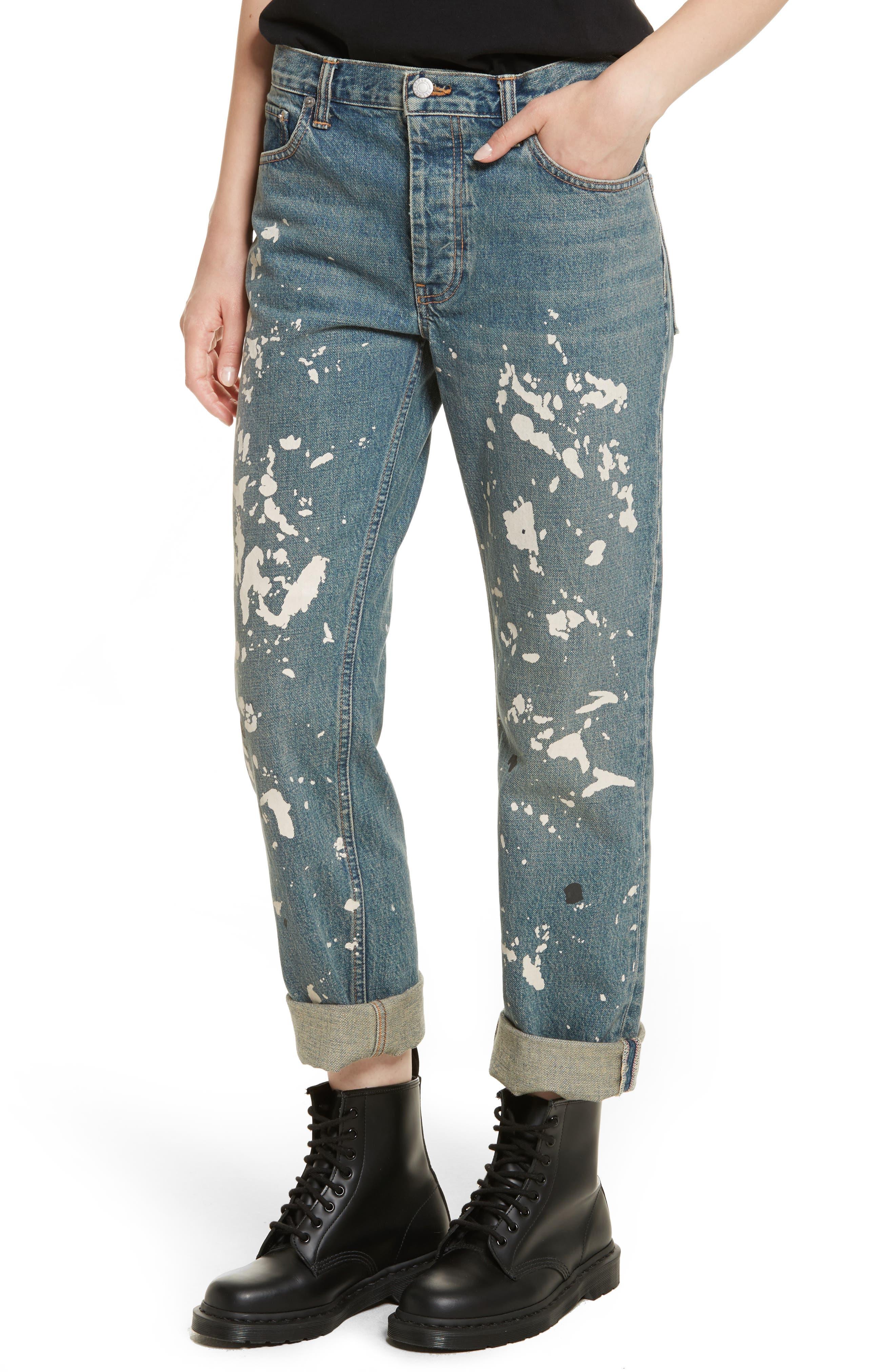 Re-Edition Painter Jeans,                             Alternate thumbnail 4, color,                             Paint Splatter