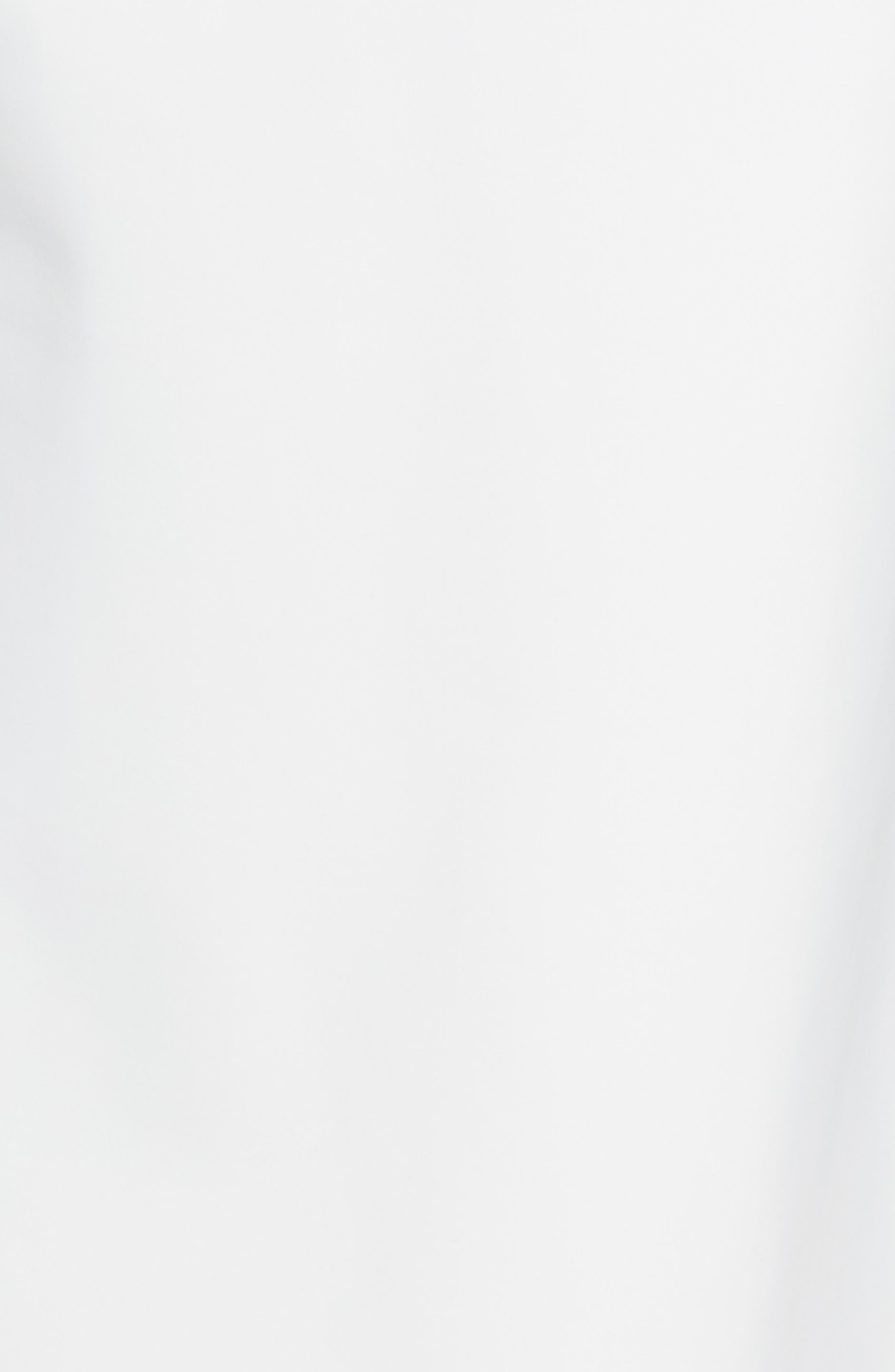 Keke Ruffle Front Surplice Gown,                             Alternate thumbnail 5, color,                             White