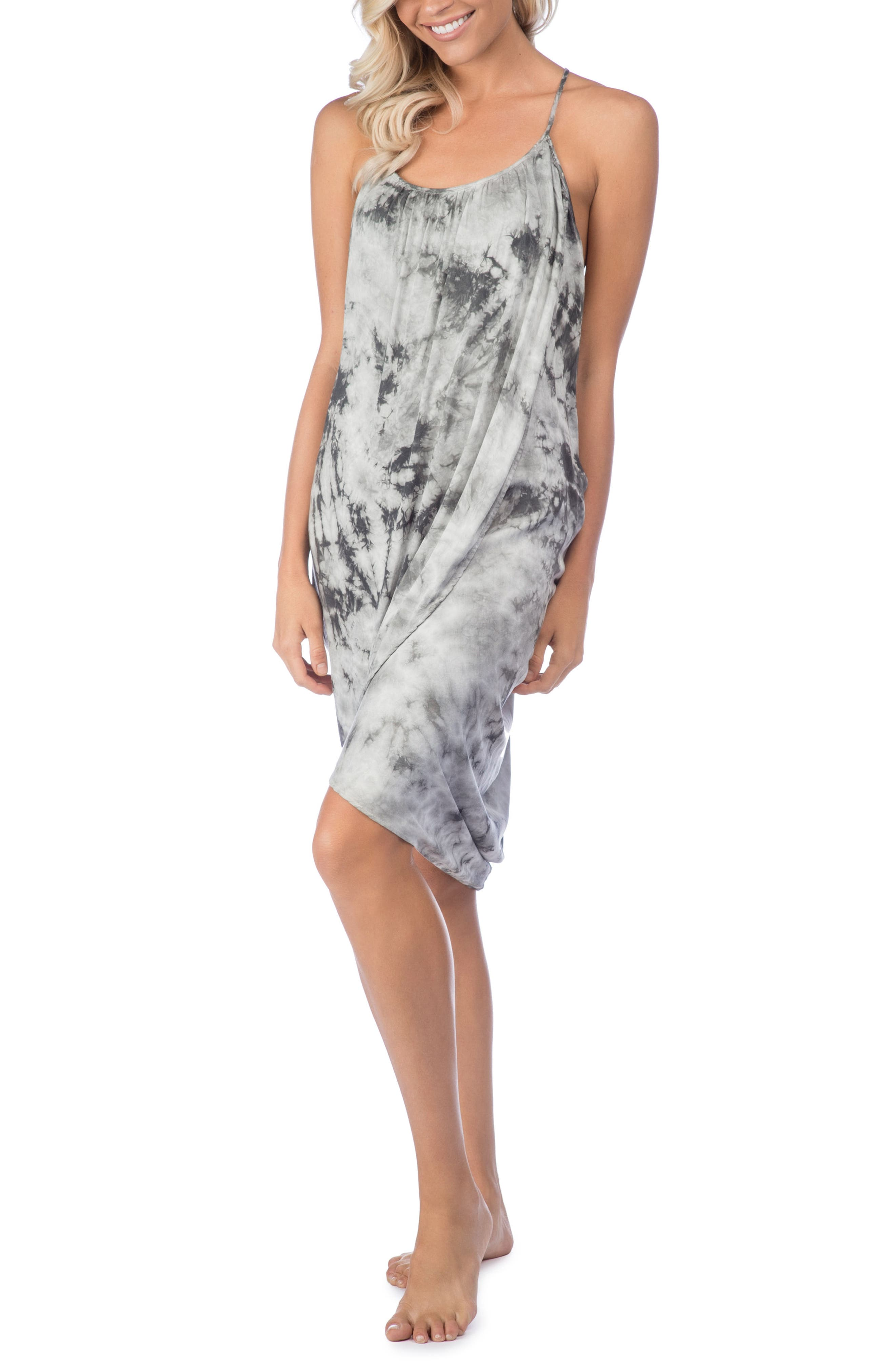 Crystal Forest Genvieve Cover-Up Dress,                         Main,                         color, Charcoal