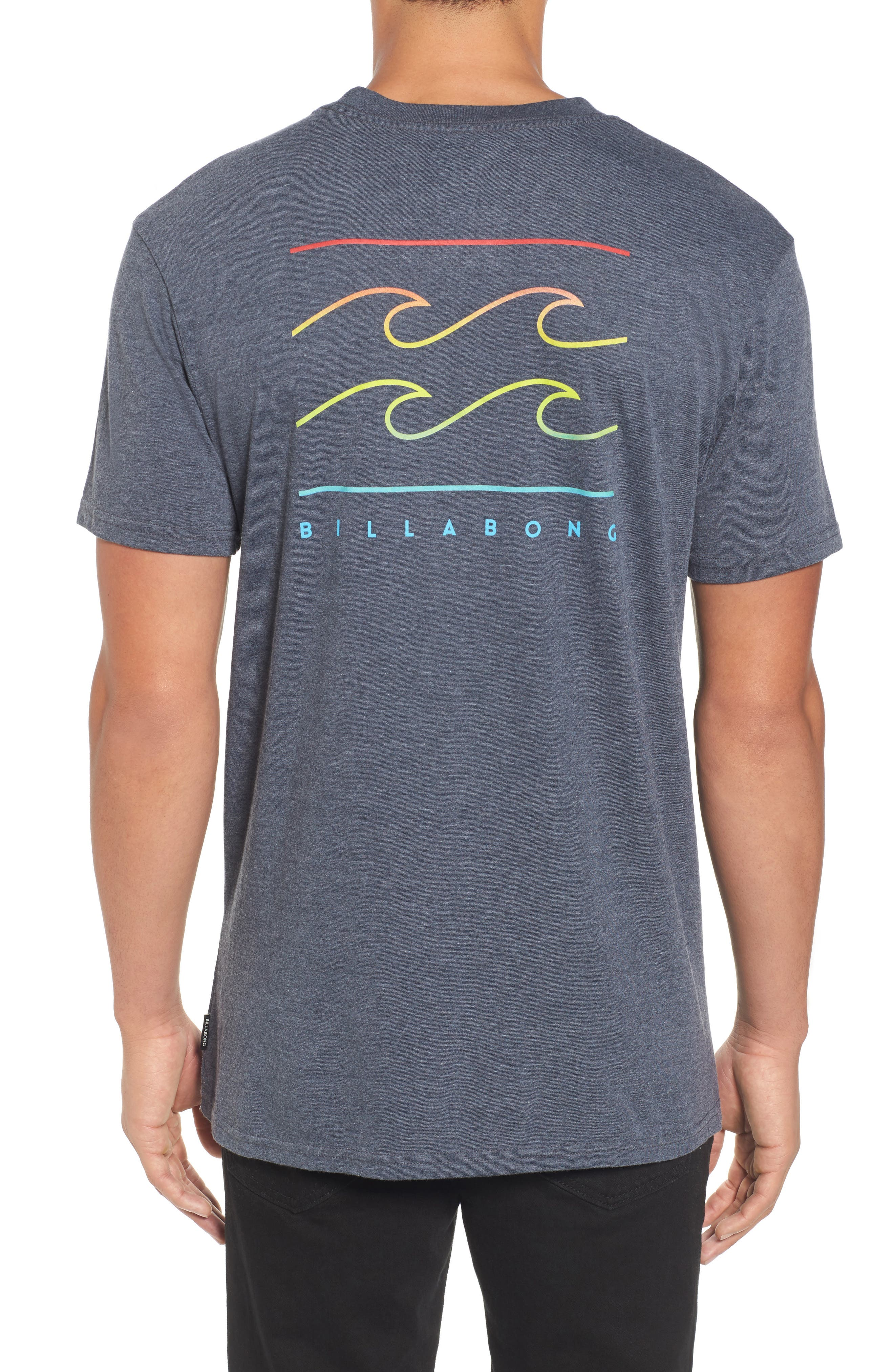 Flat Line T-Shirt,                             Alternate thumbnail 2, color,                             Indigo Heather