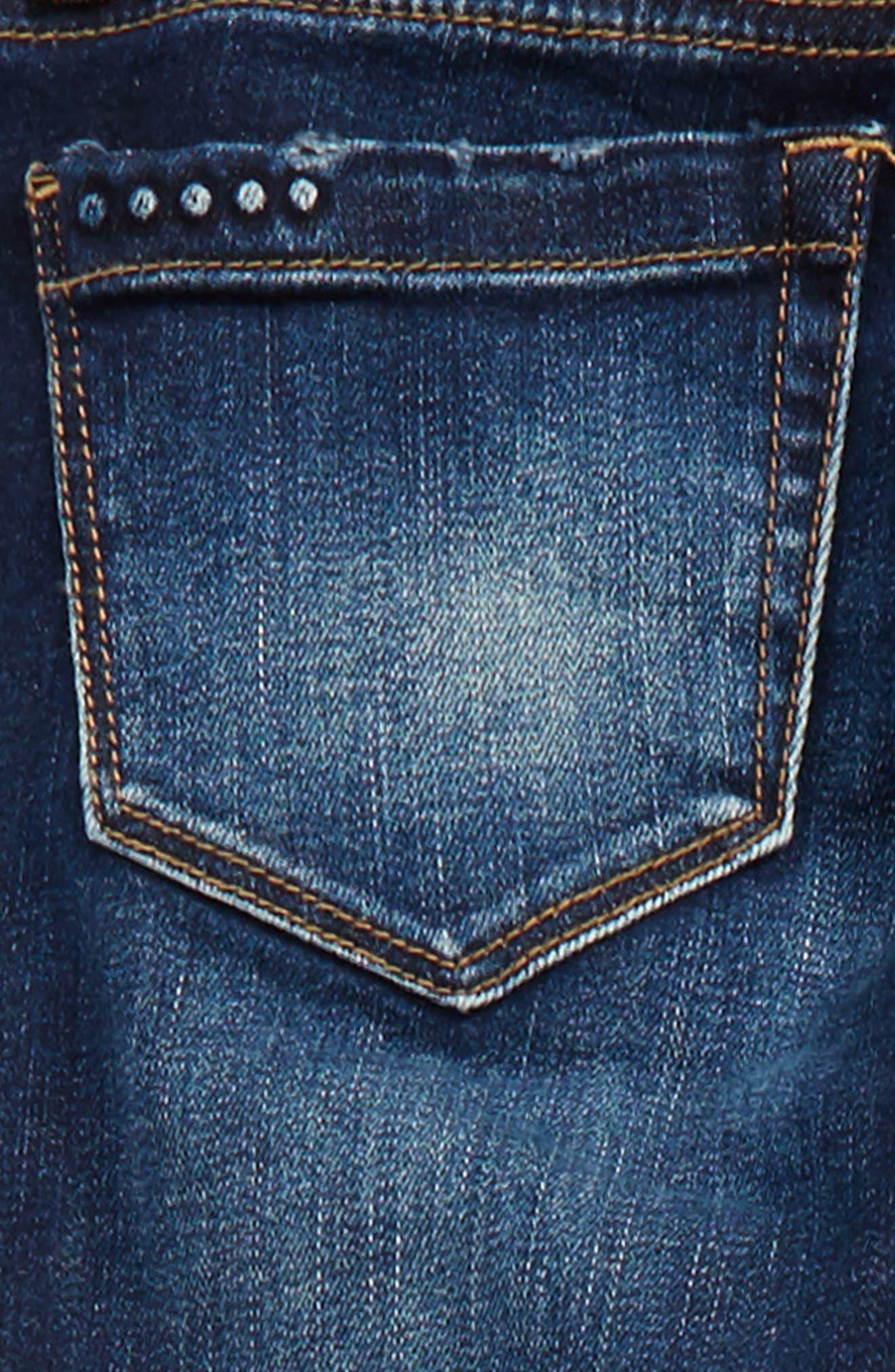 Rip & Repair Skinny Jeans,                             Alternate thumbnail 3, color,                             Cult Classic Blue