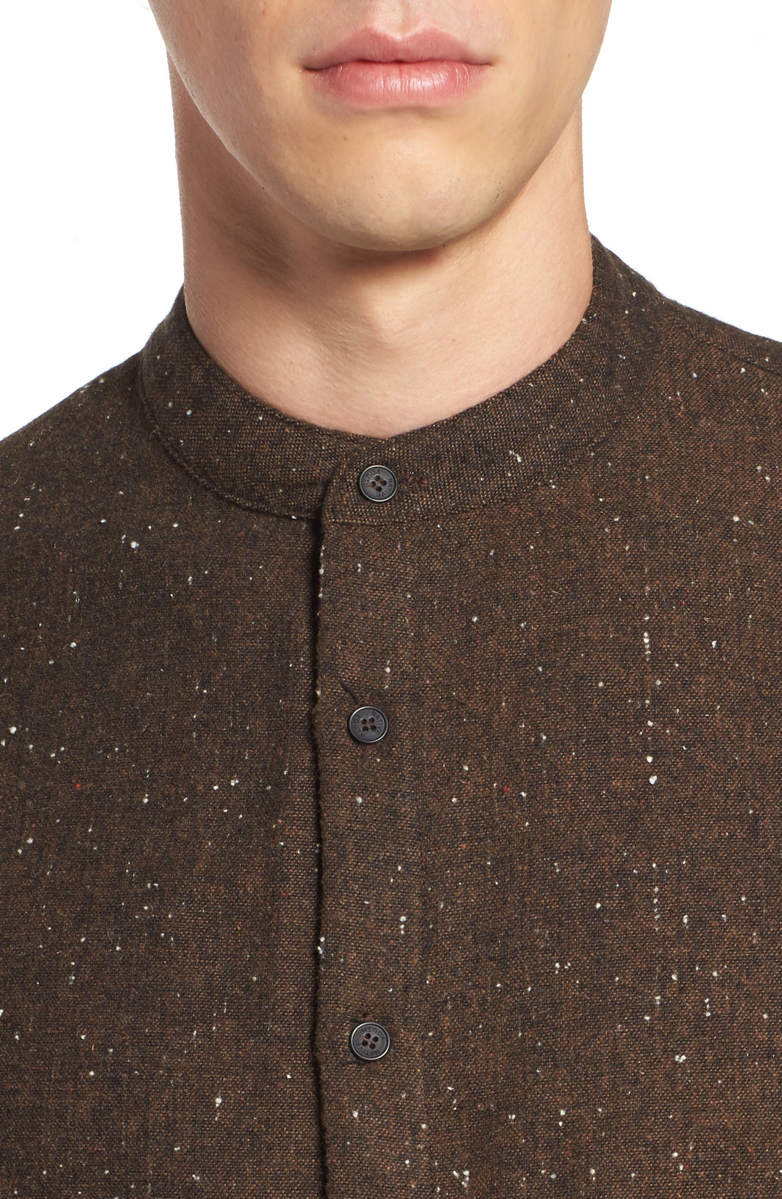 Alford Nep Shirt,                             Alternate thumbnail 4, color,                             Brown
