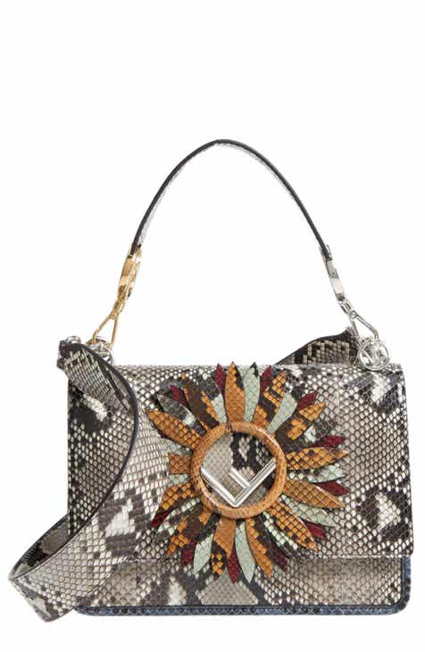0481521fb0 Fendi Kan I Daisy Logo Genuine Python Shoulder Bag