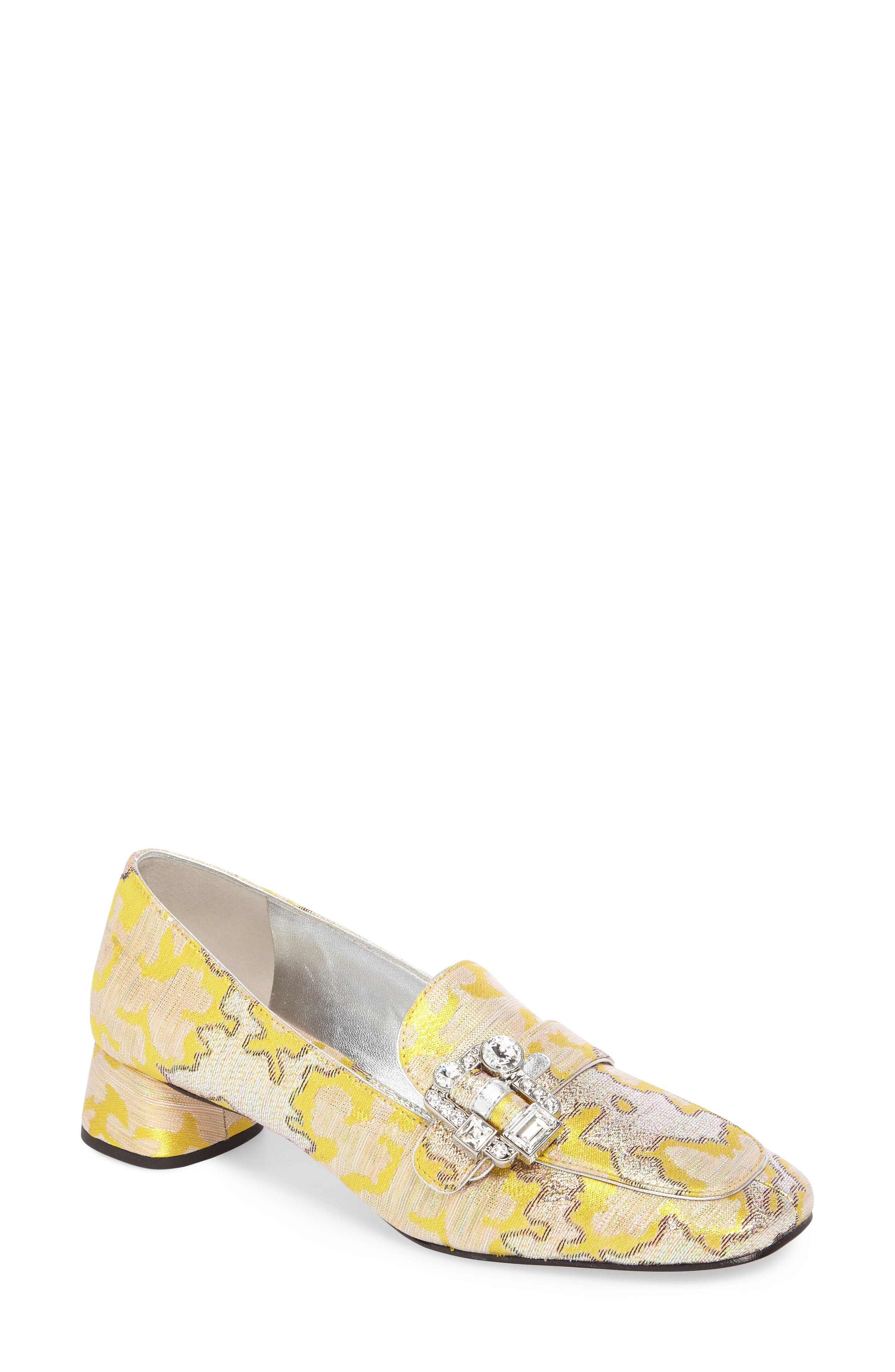 Brooch Loafer Pump,                         Main,                         color, Giallo