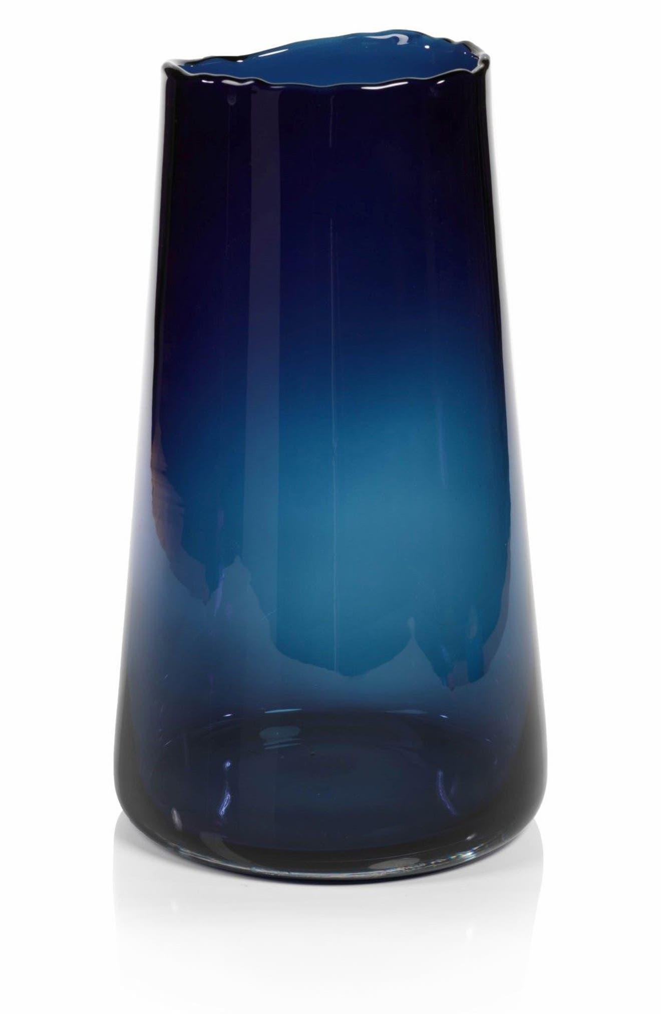 Manarola Glass Vase,                         Main,                         color, Blue