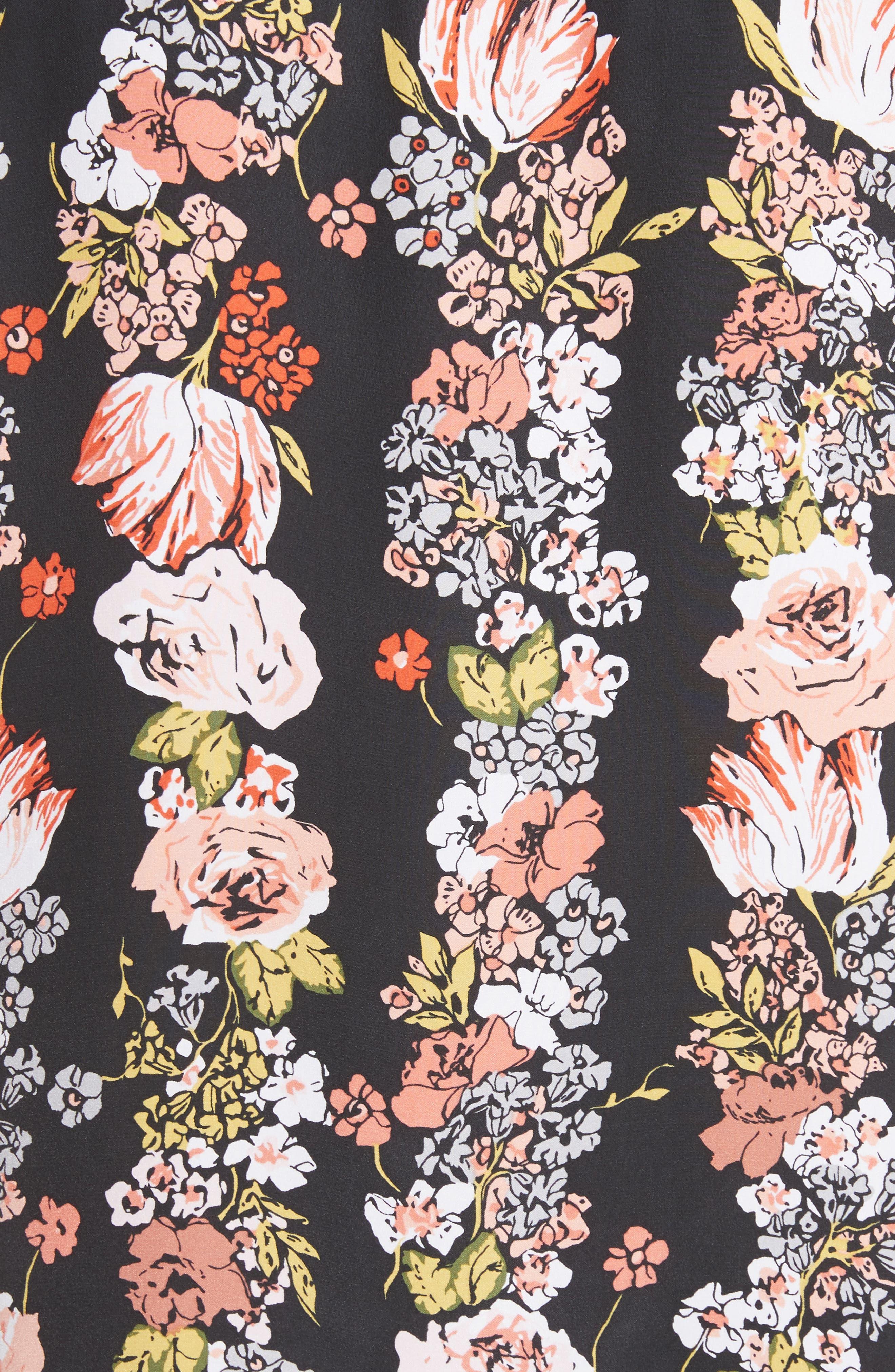 Daphne Silk Shirtdress,                             Alternate thumbnail 5, color,                             True Black Multi