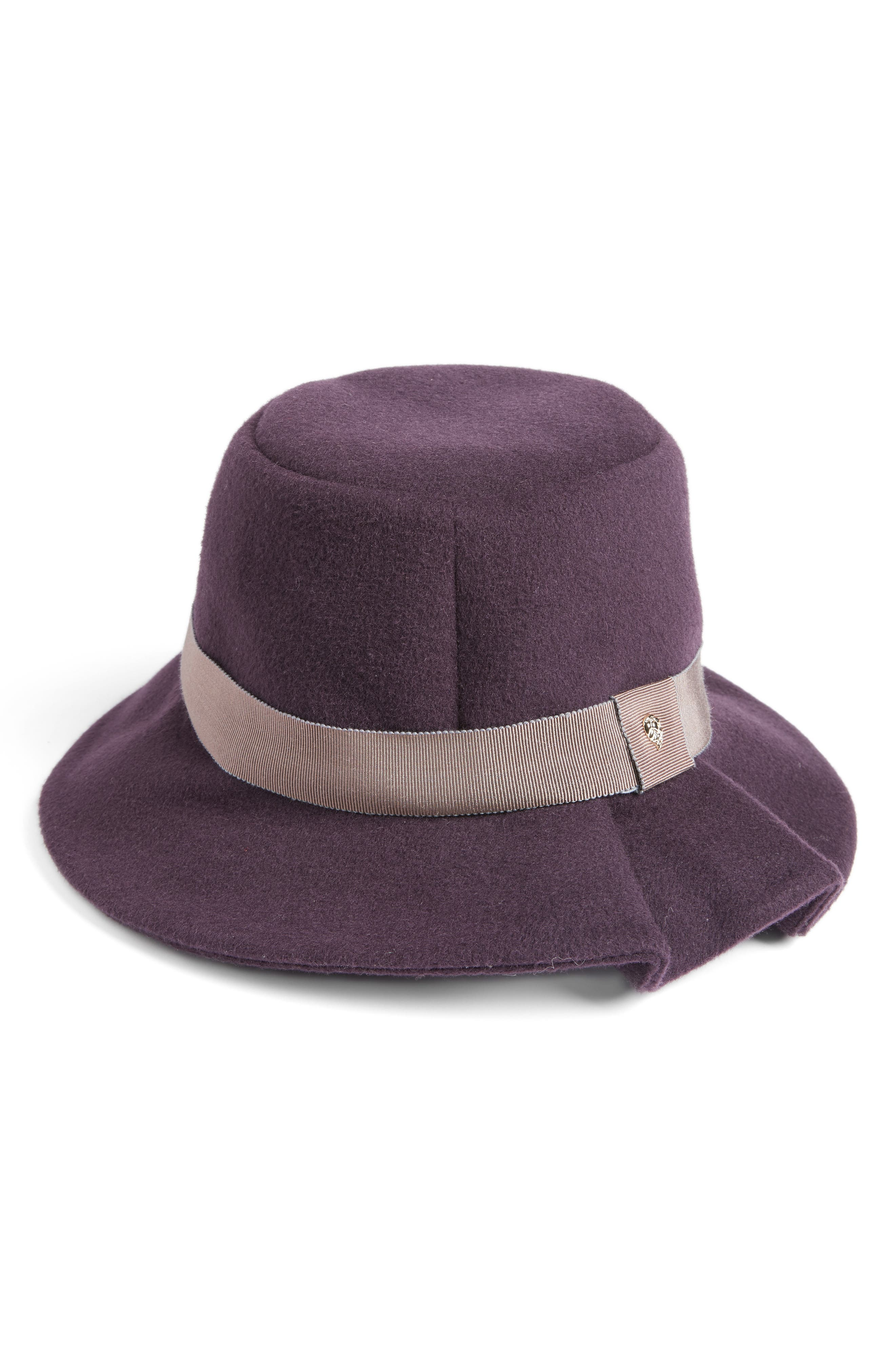 Luxe Tapered Bucket Hat,                             Main thumbnail 1, color,                             Aubergine
